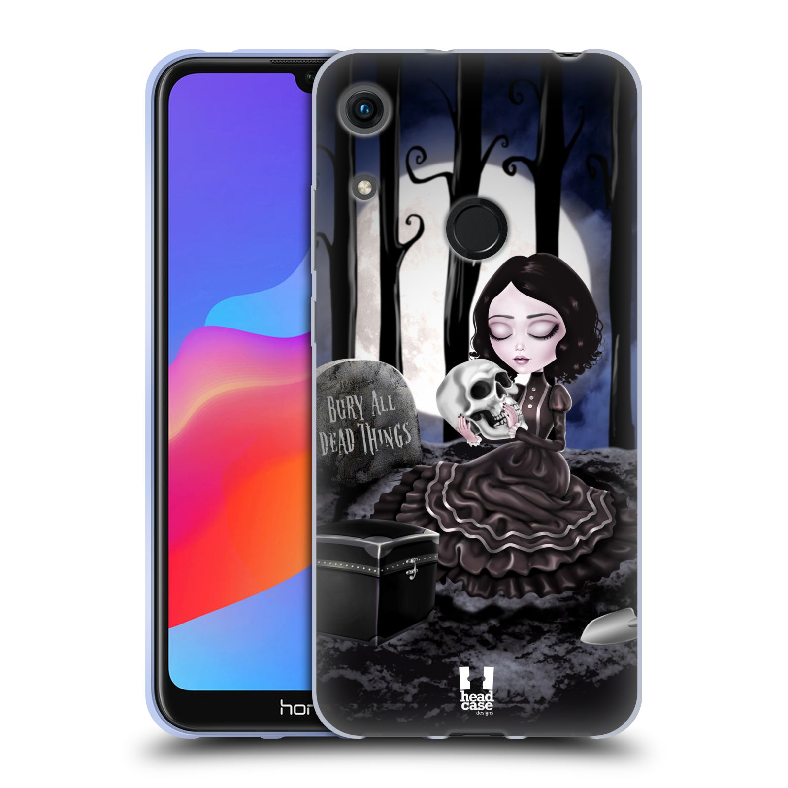 Silikonové pouzdro na mobil Honor 8A - Head Case - MACABRE HŘBITOV