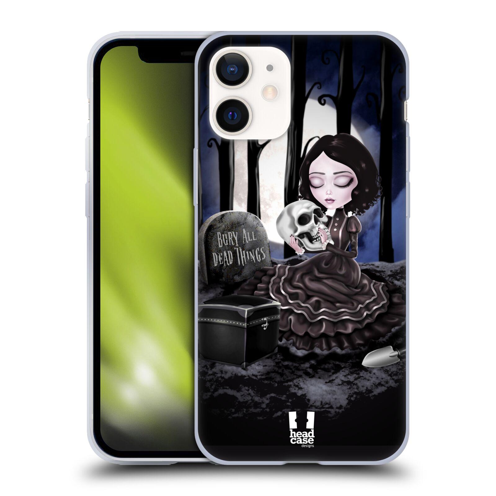 Silikonové pouzdro na mobil Apple iPhone 12 Mini - Head Case - MACABRE HŘBITOV