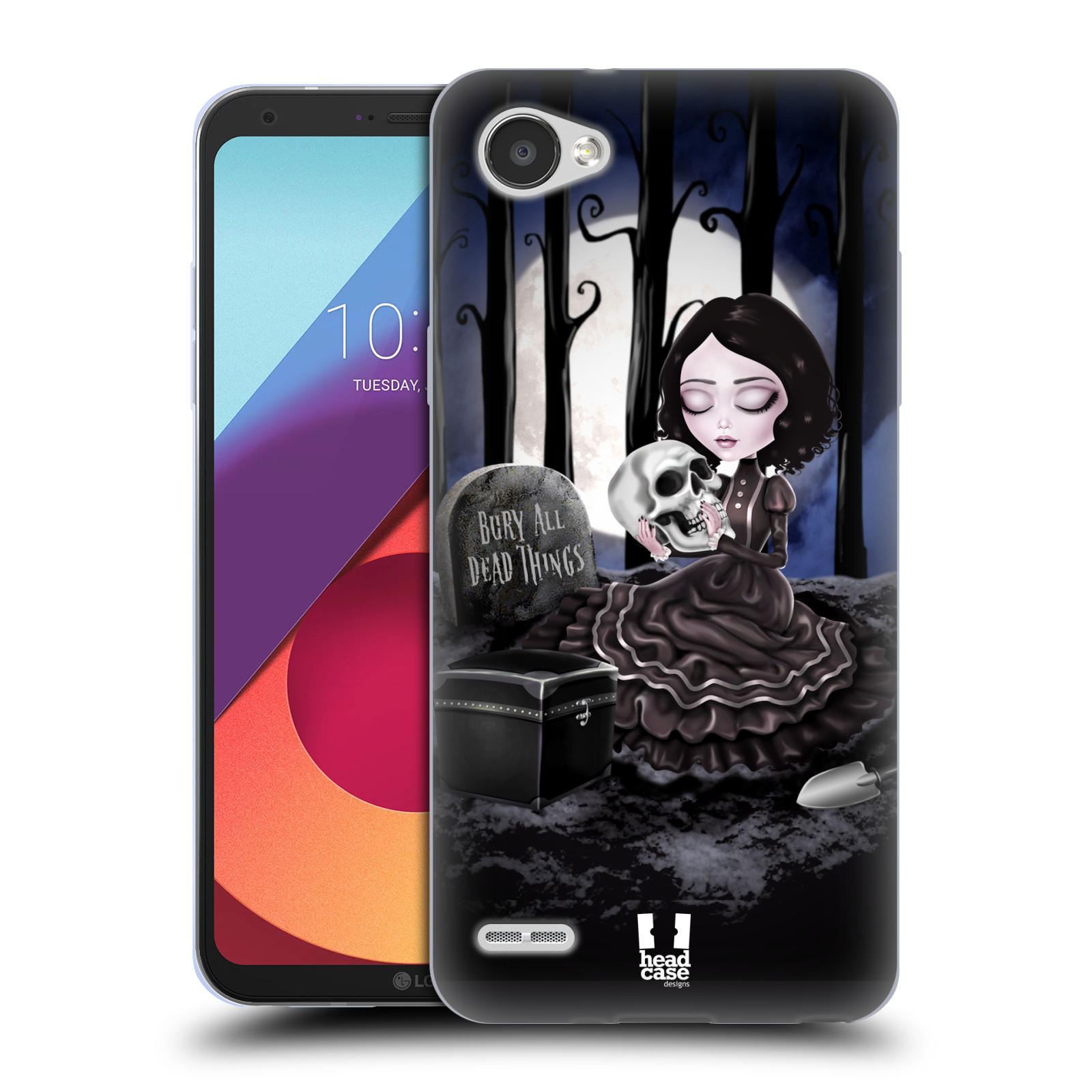 Silikonové pouzdro na mobil LG Q6 - Head Case - MACABRE HŘBITOV