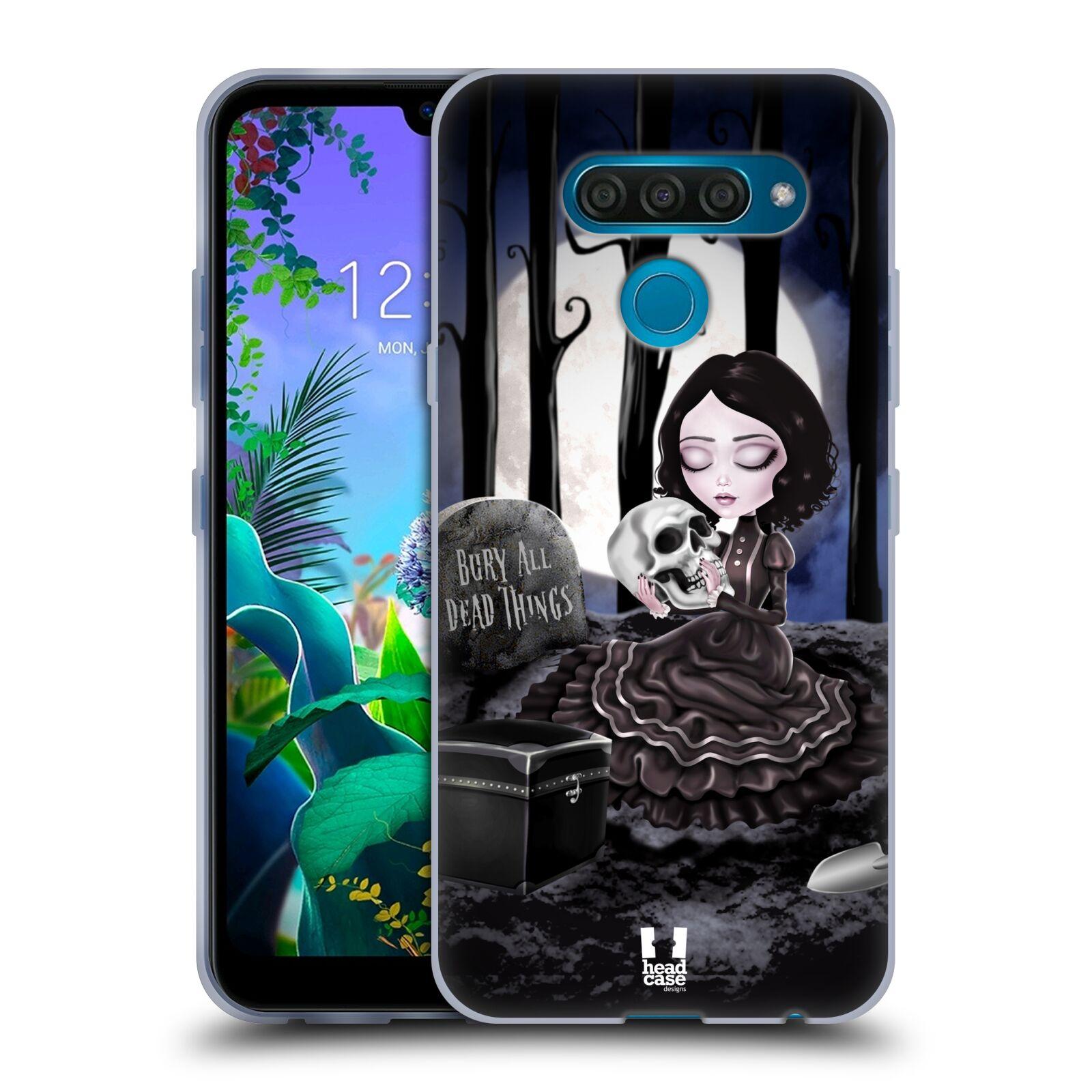 Silikonové pouzdro na mobil LG Q60 - Head Case - MACABRE HŘBITOV