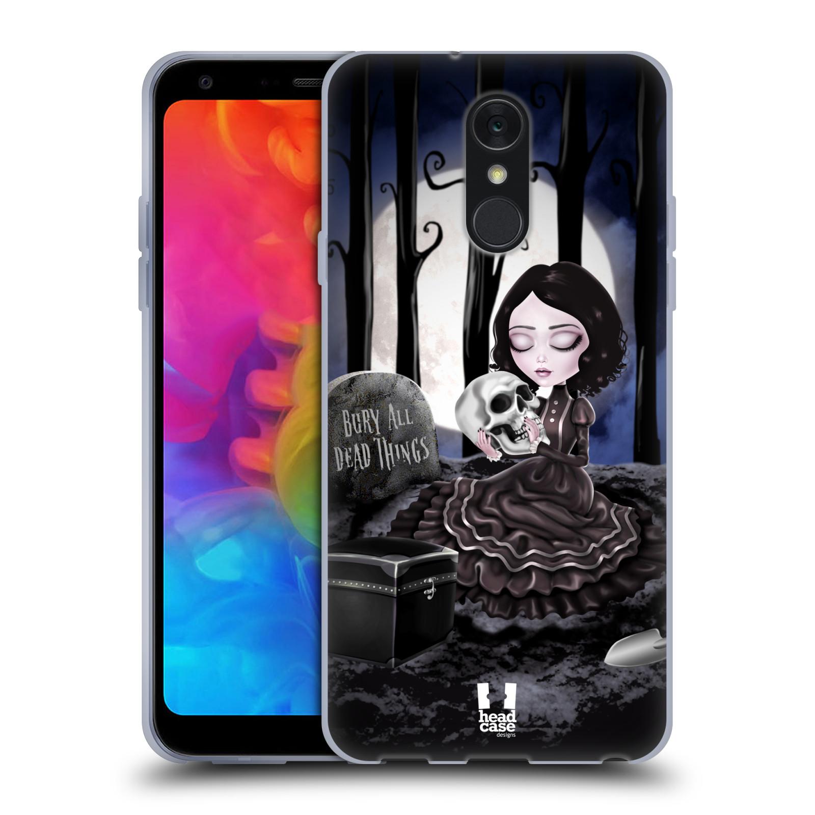 Silikonové pouzdro na mobil LG Q7 - Head Case - MACABRE HŘBITOV