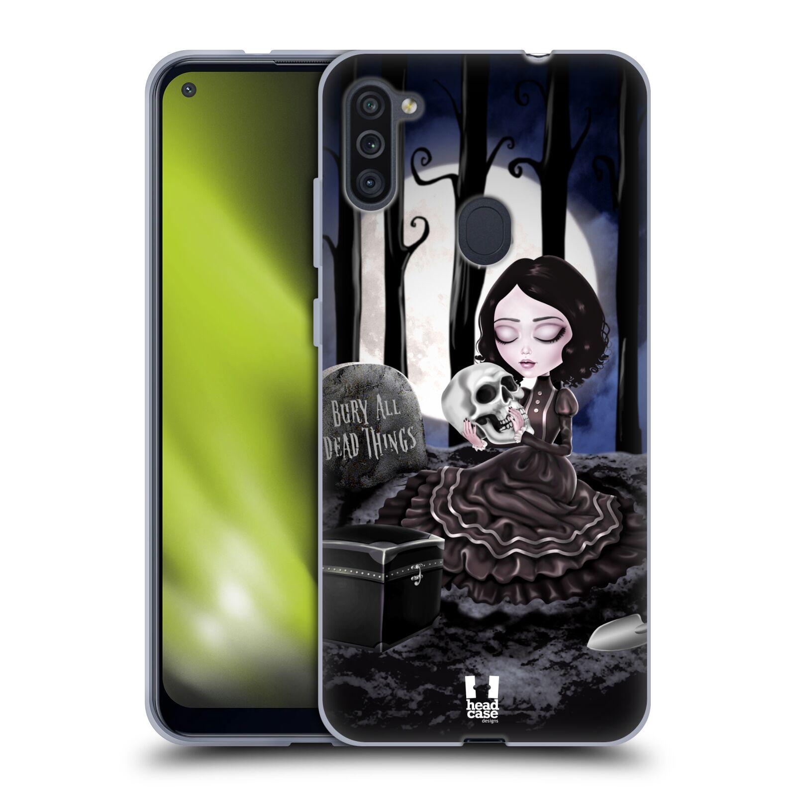 Silikonové pouzdro na mobil Samsung Galaxy M11 - Head Case - MACABRE HŘBITOV