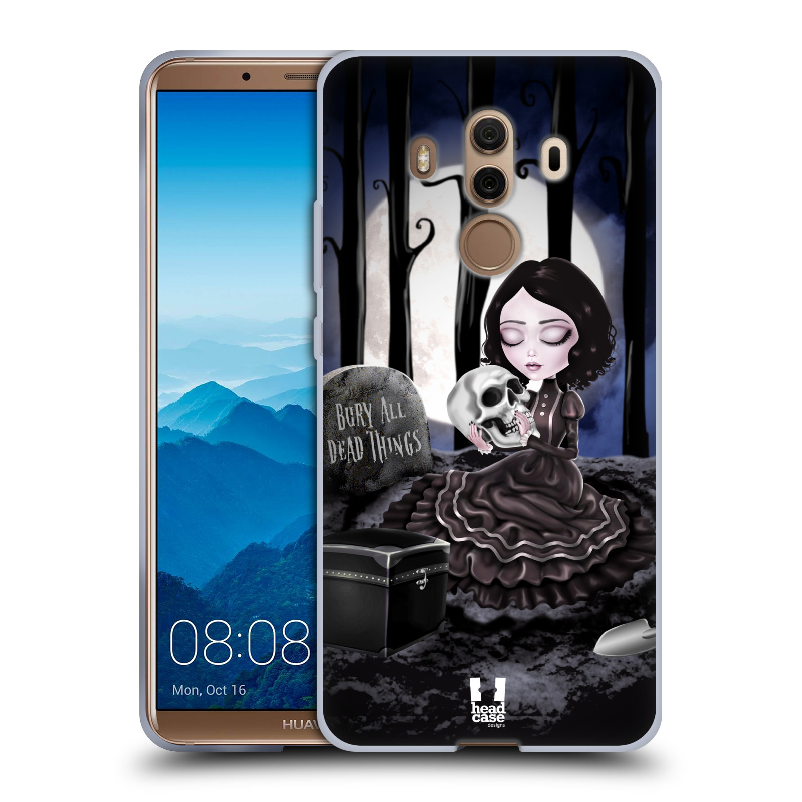 Silikonové pouzdro na mobil Huawei Mate 10 Pro - Head Case - MACABRE HŘBITOV