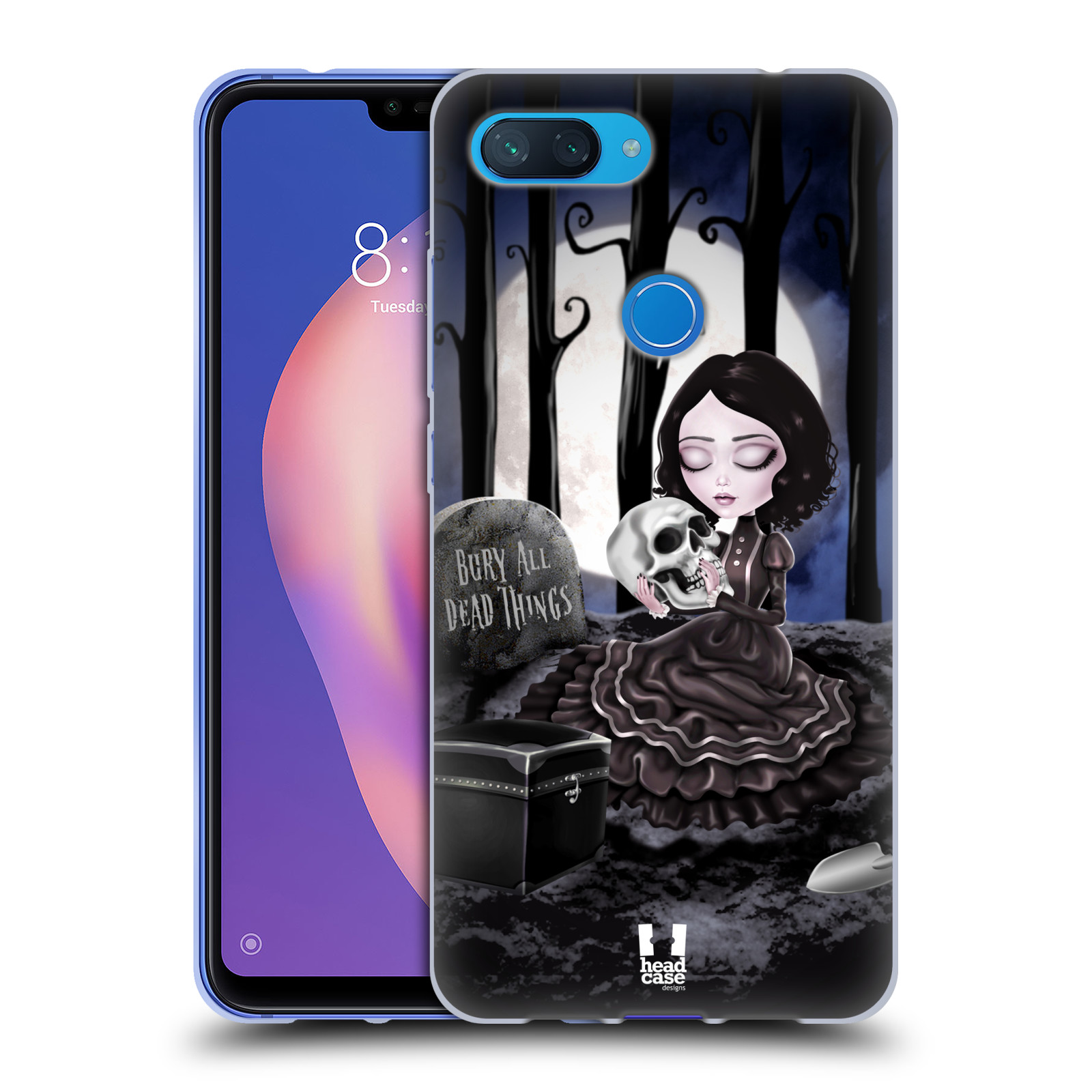 Silikonové pouzdro na mobil Xiaomi Mi 8 Lite - Head Case - MACABRE HŘBITOV