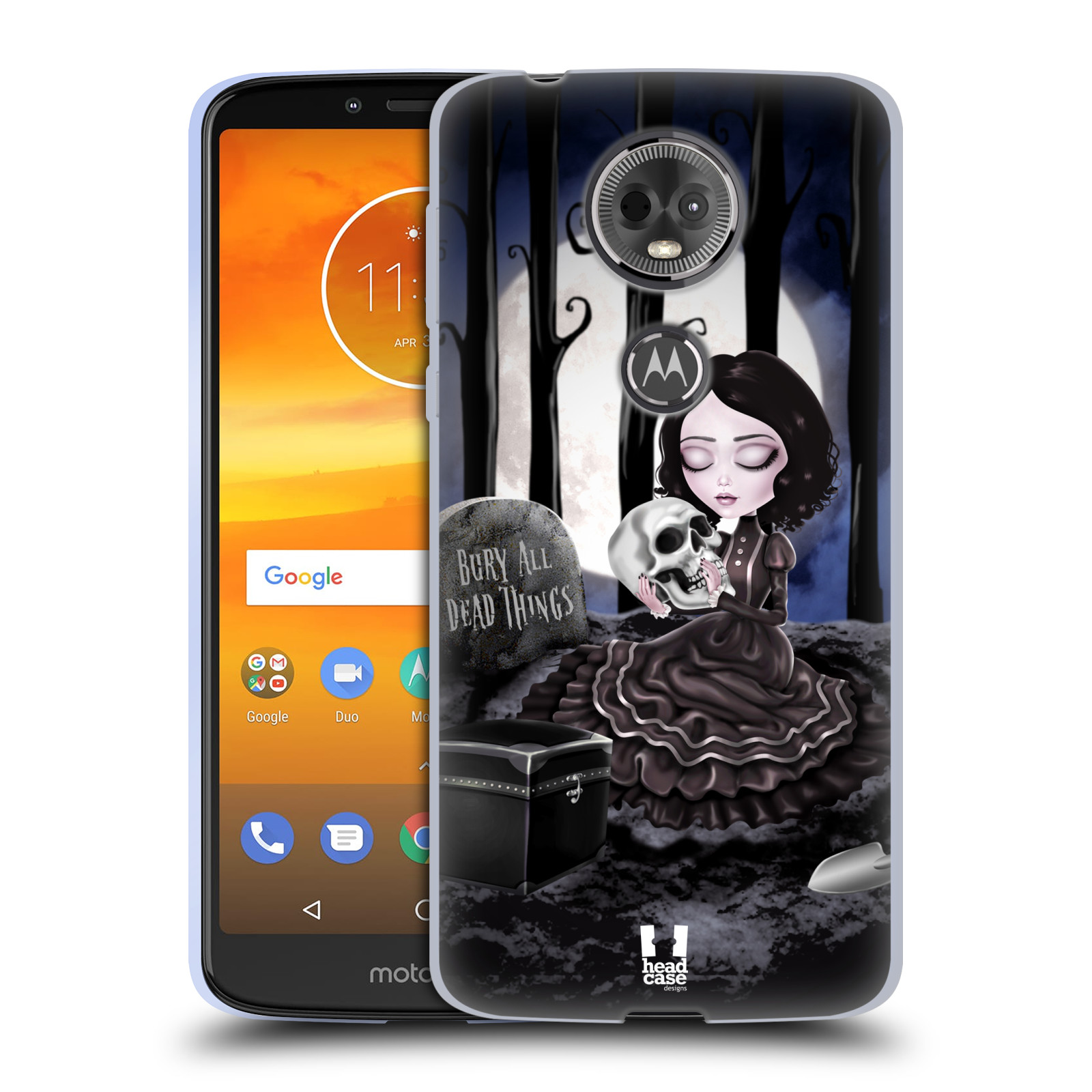 Silikonové pouzdro na mobil Motorola Moto E5 Plus - Head Case - MACABRE HŘBITOV