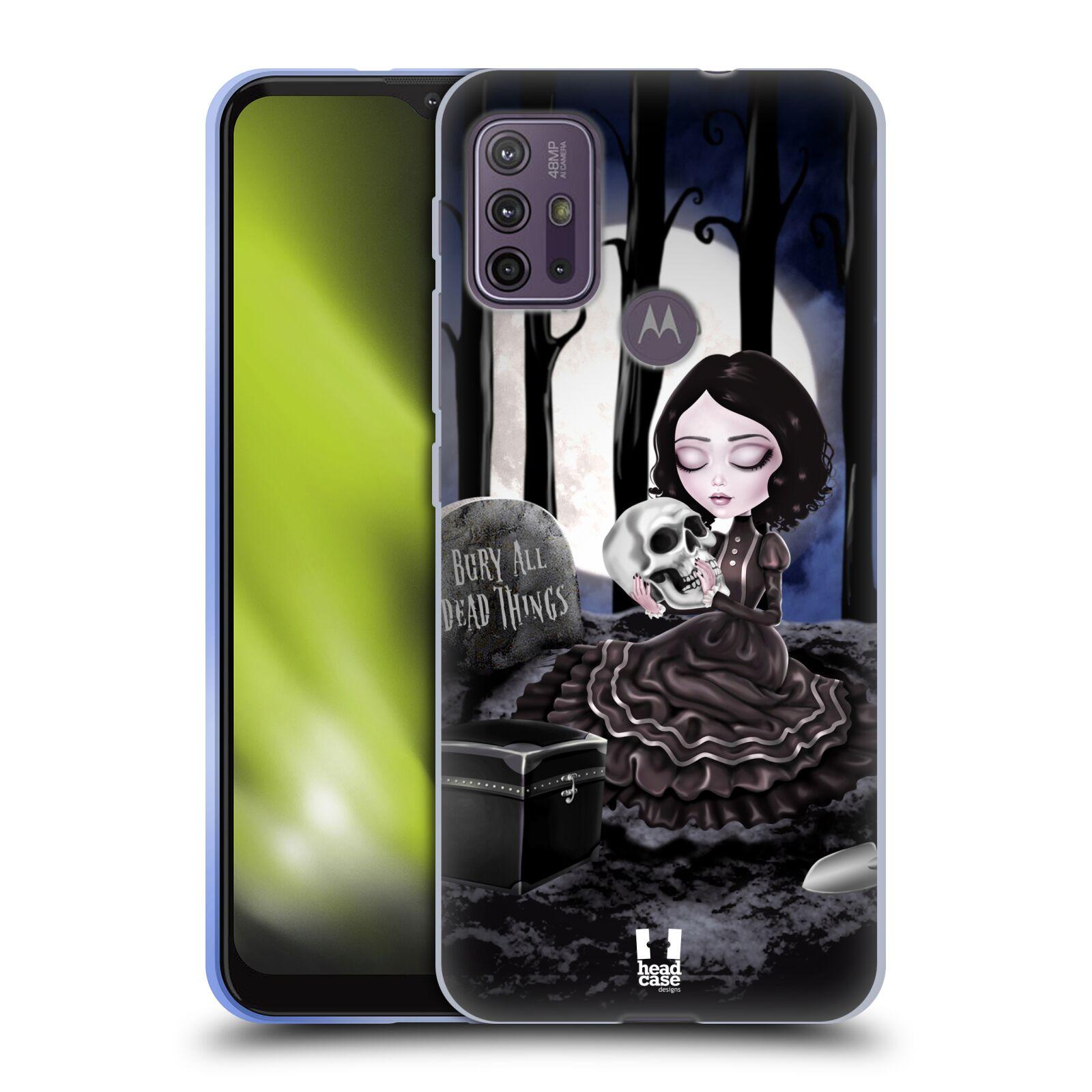Silikonové pouzdro na mobil Motorola Moto G10 / G30 - Head Case - MACABRE HŘBITOV