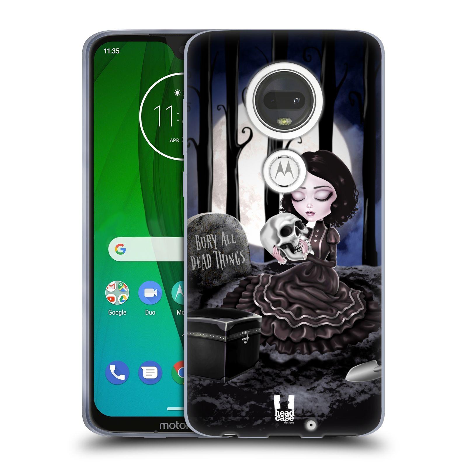 Silikonové pouzdro na mobil Motorola Moto G7 - Head Case - MACABRE HŘBITOV