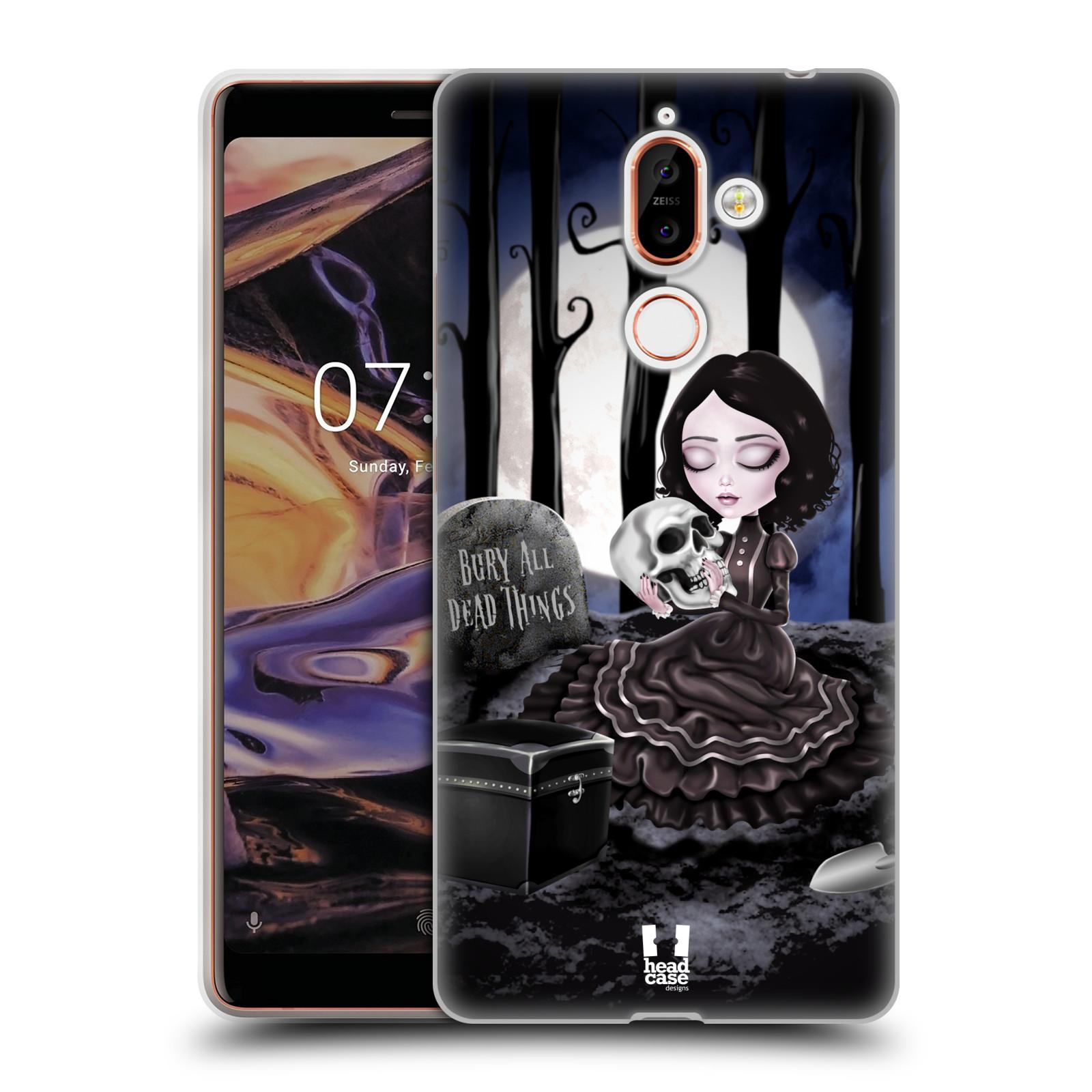 Silikonové pouzdro na mobil Nokia 7 Plus - Head Case - MACABRE HŘBITOV