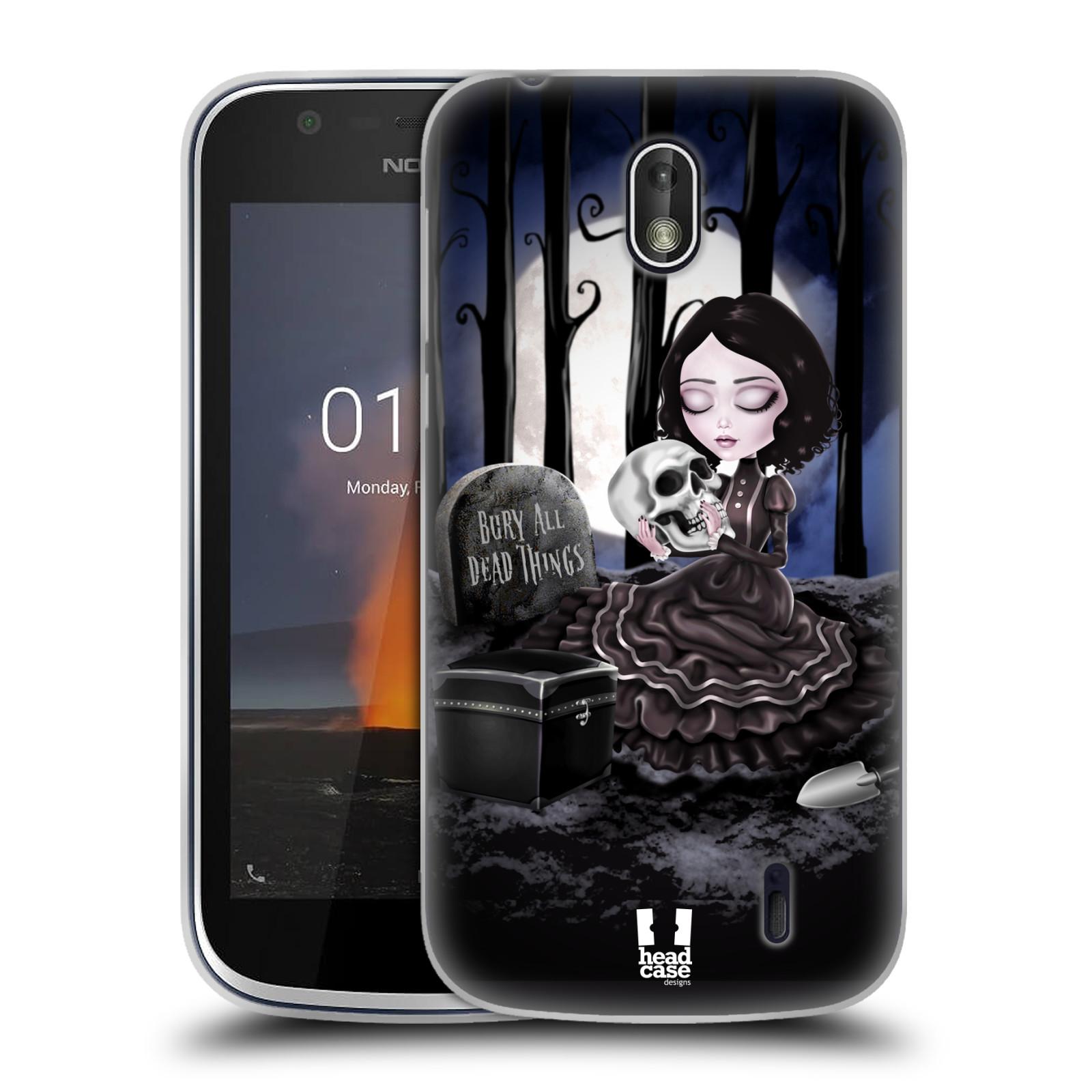 Silikonové pouzdro na mobil Nokia 1 - Head Case - MACABRE HŘBITOV