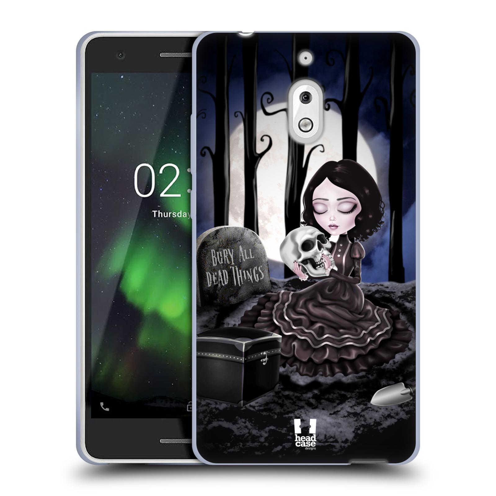 Silikonové pouzdro na mobil Nokia 2.1 - Head Case - MACABRE HŘBITOV