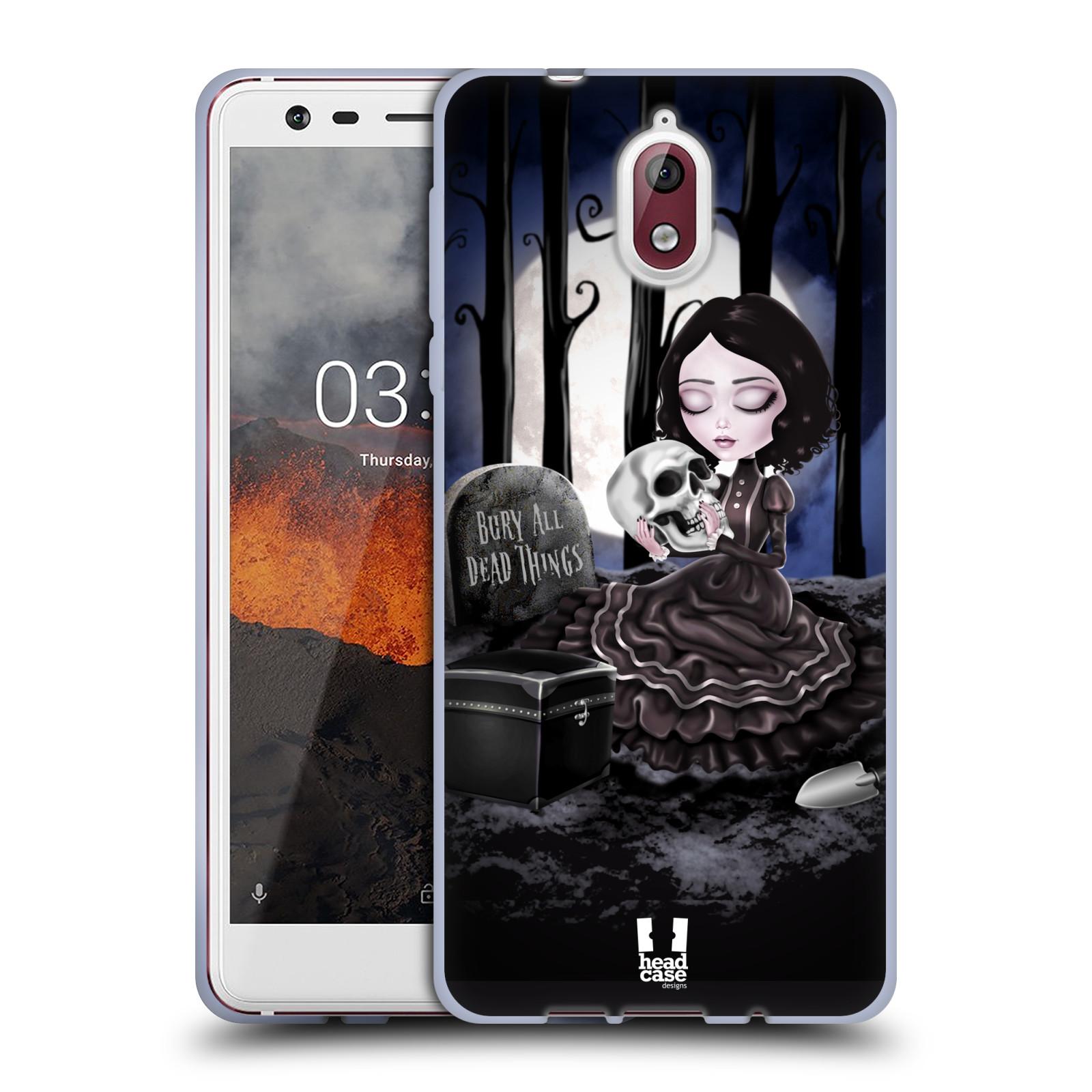 Silikonové pouzdro na mobil Nokia 3.1 - Head Case - MACABRE HŘBITOV