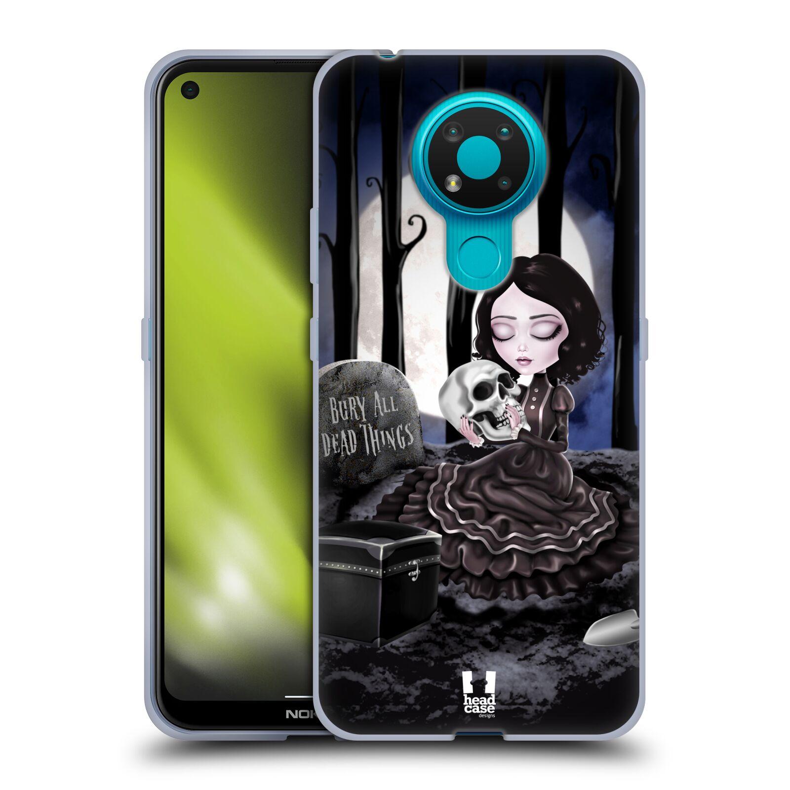 Silikonové pouzdro na mobil Nokia 3.4 - Head Case - MACABRE HŘBITOV