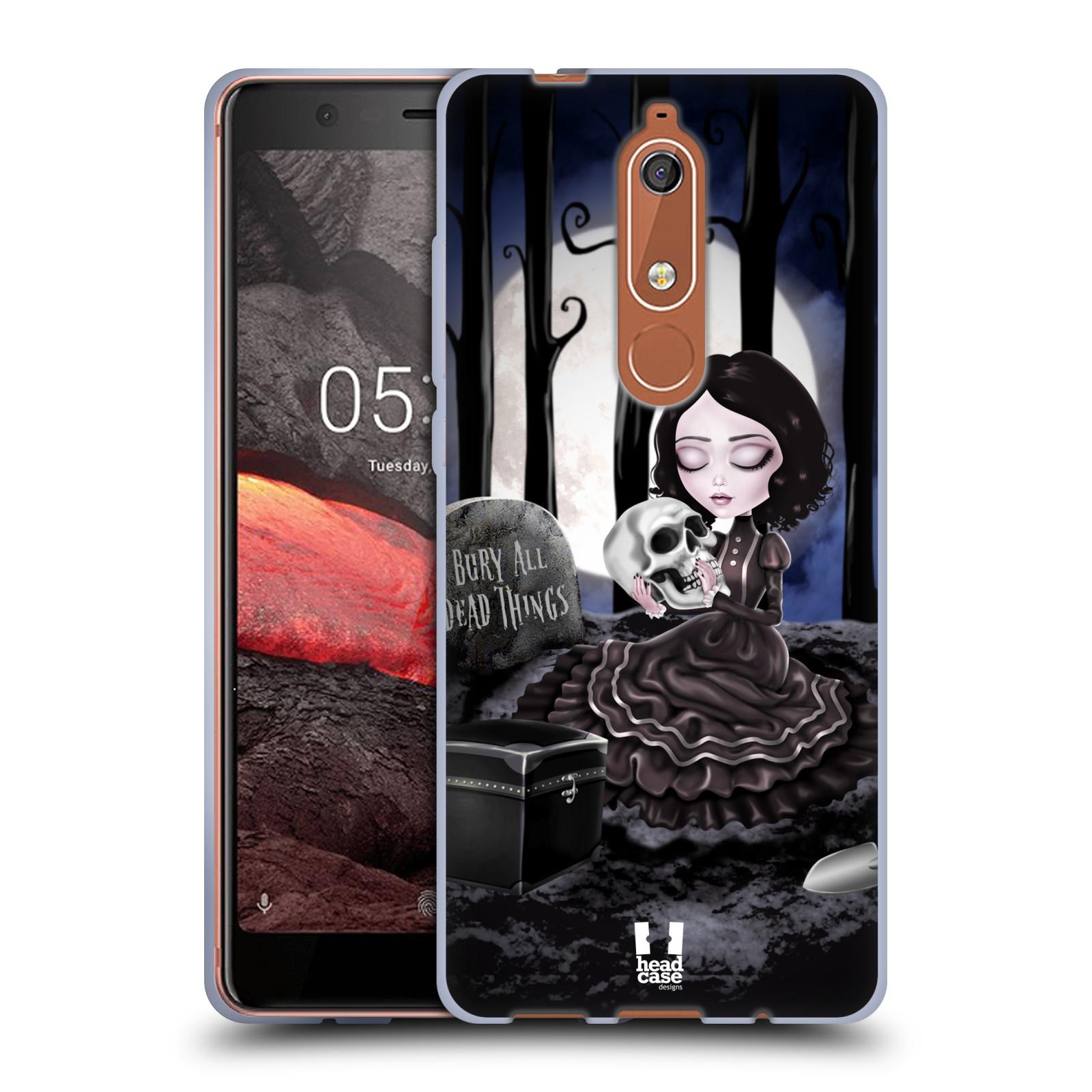 Silikonové pouzdro na mobil Nokia 5.1 - Head Case - MACABRE HŘBITOV