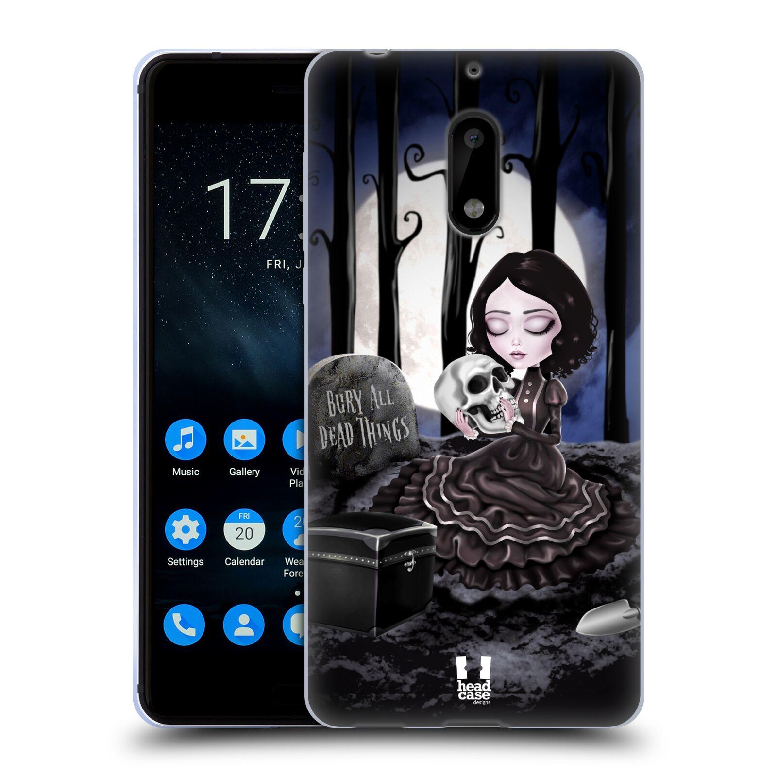 Silikonové pouzdro na mobil Nokia 6 - Head Case - MACABRE HŘBITOV