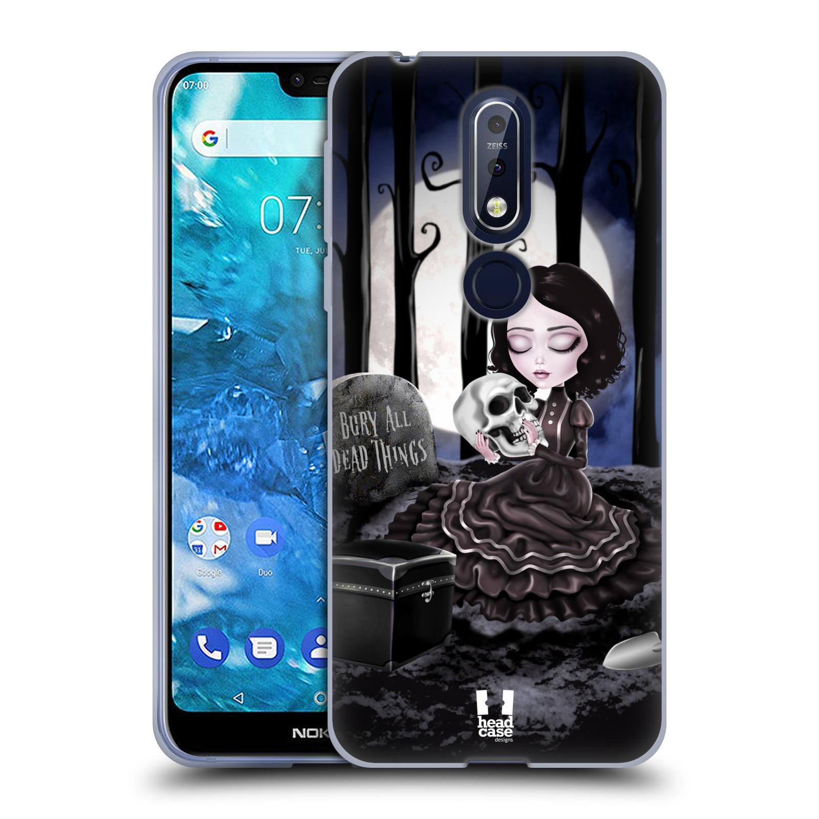 Silikonové pouzdro na mobil Nokia 7.1 - Head Case - MACABRE HŘBITOV