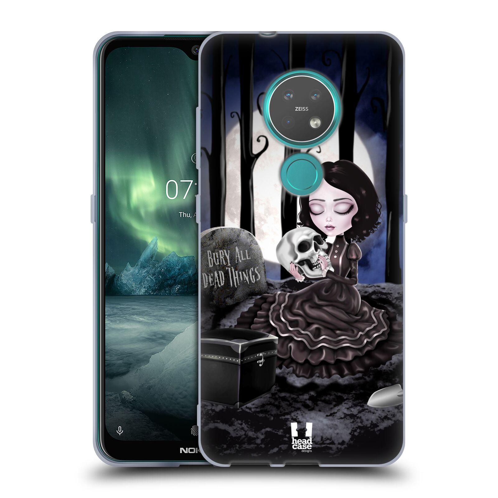 Silikonové pouzdro na mobil Nokia 7.2 - Head Case - MACABRE HŘBITOV