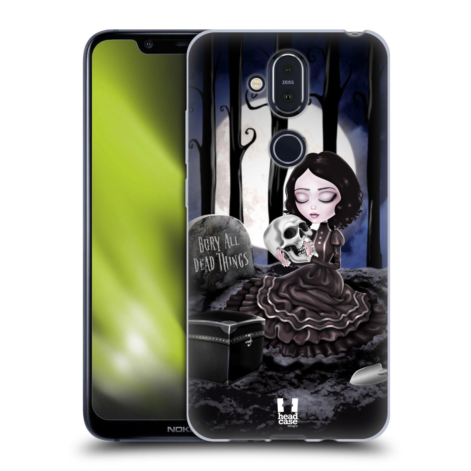 Silikonové pouzdro na mobil Nokia 8.1 - Head Case - MACABRE HŘBITOV