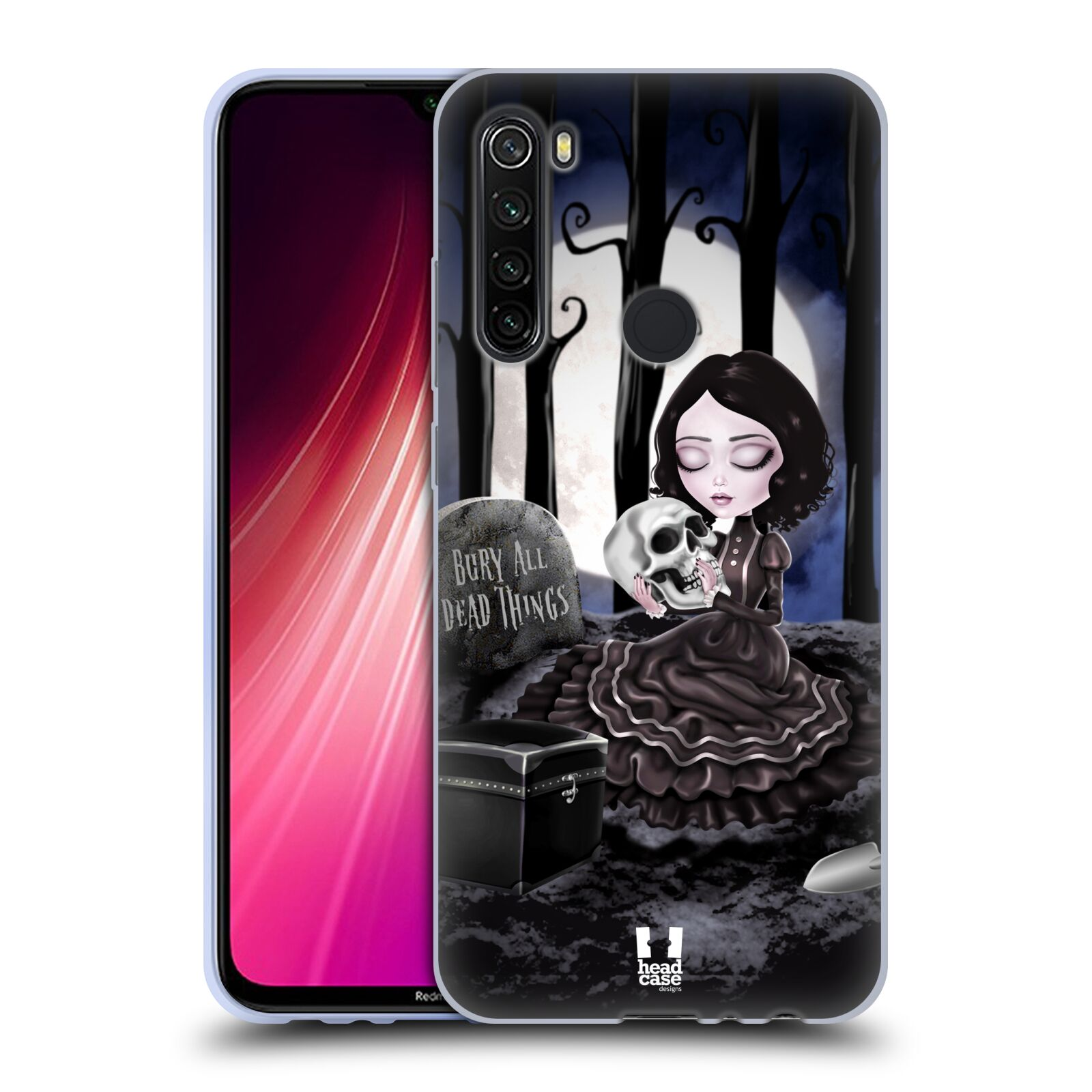 Silikonové pouzdro na mobil Xiaomi Redmi Note 8T - Head Case - MACABRE HŘBITOV