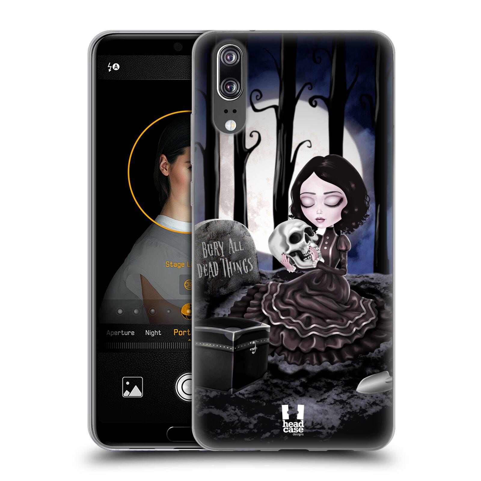 Silikonové pouzdro na mobil Huawei P20 - Head Case - MACABRE HŘBITOV