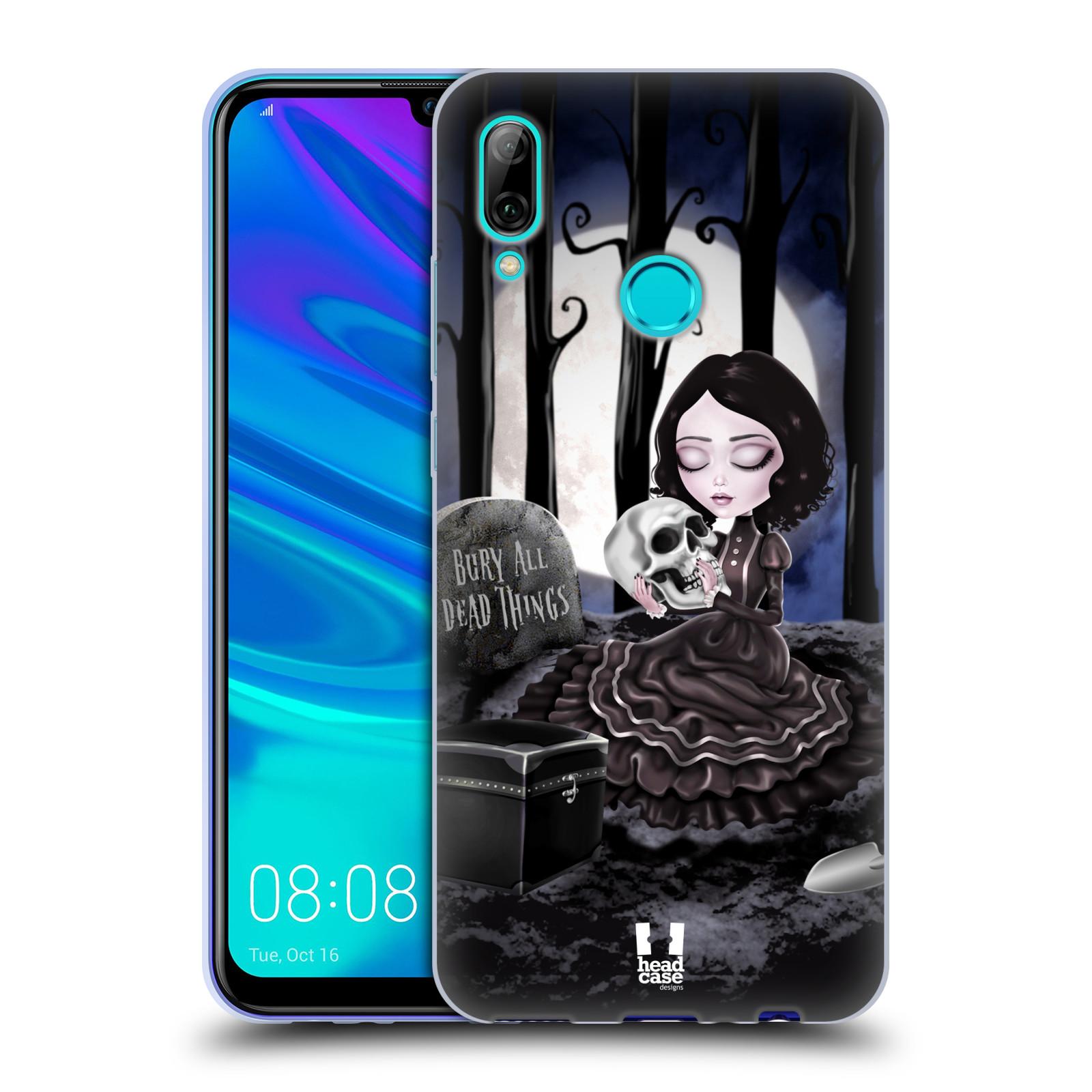 Silikonové pouzdro na mobil Huawei P Smart (2019) - Head Case - MACABRE HŘBITOV