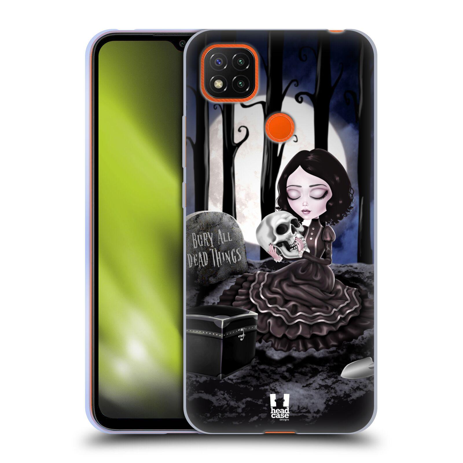 Silikonové pouzdro na mobil Xiaomi Redmi 9C - Head Case - MACABRE HŘBITOV