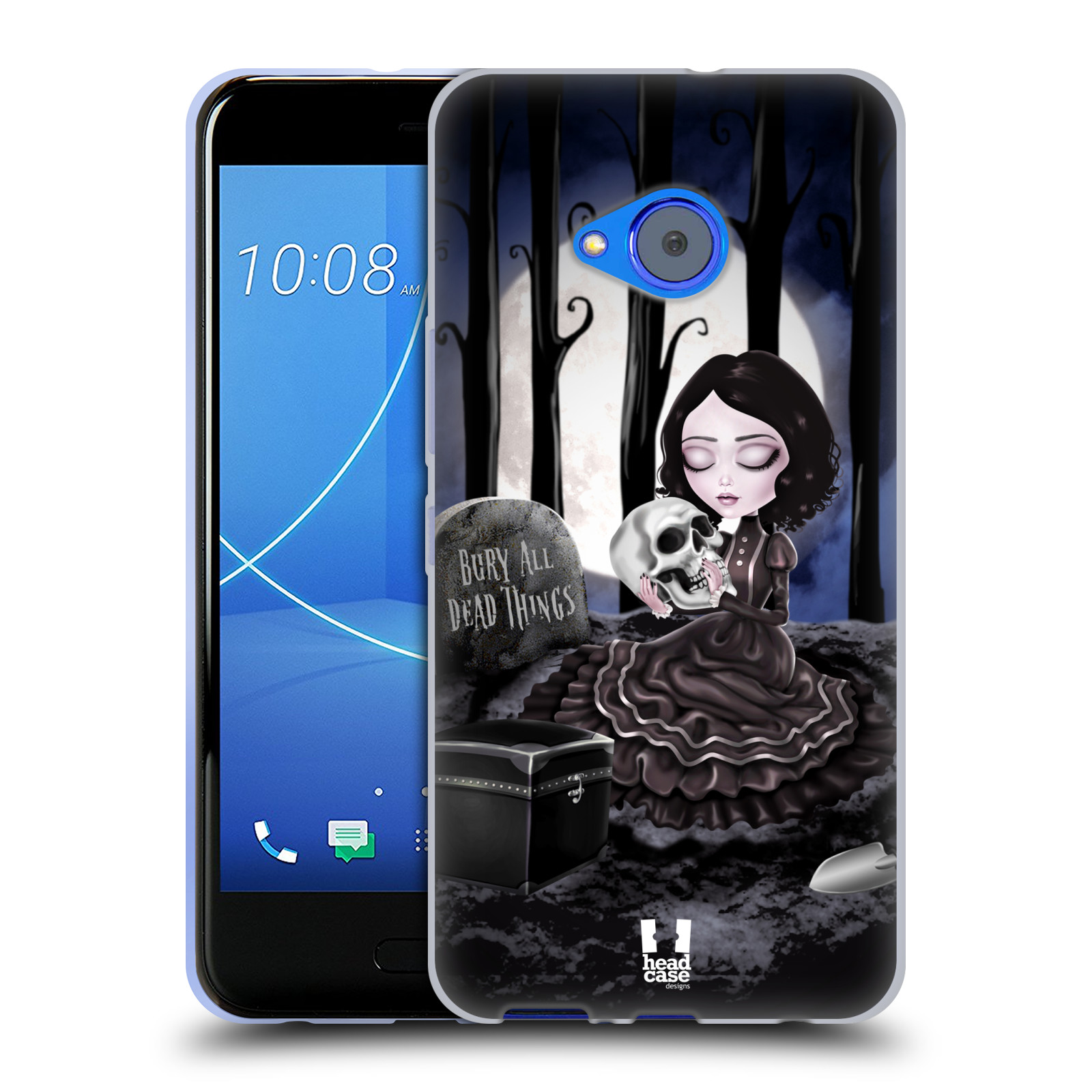 Silikonové pouzdro na mobil HTC U11 Life - Head Case - MACABRE HŘBITOV