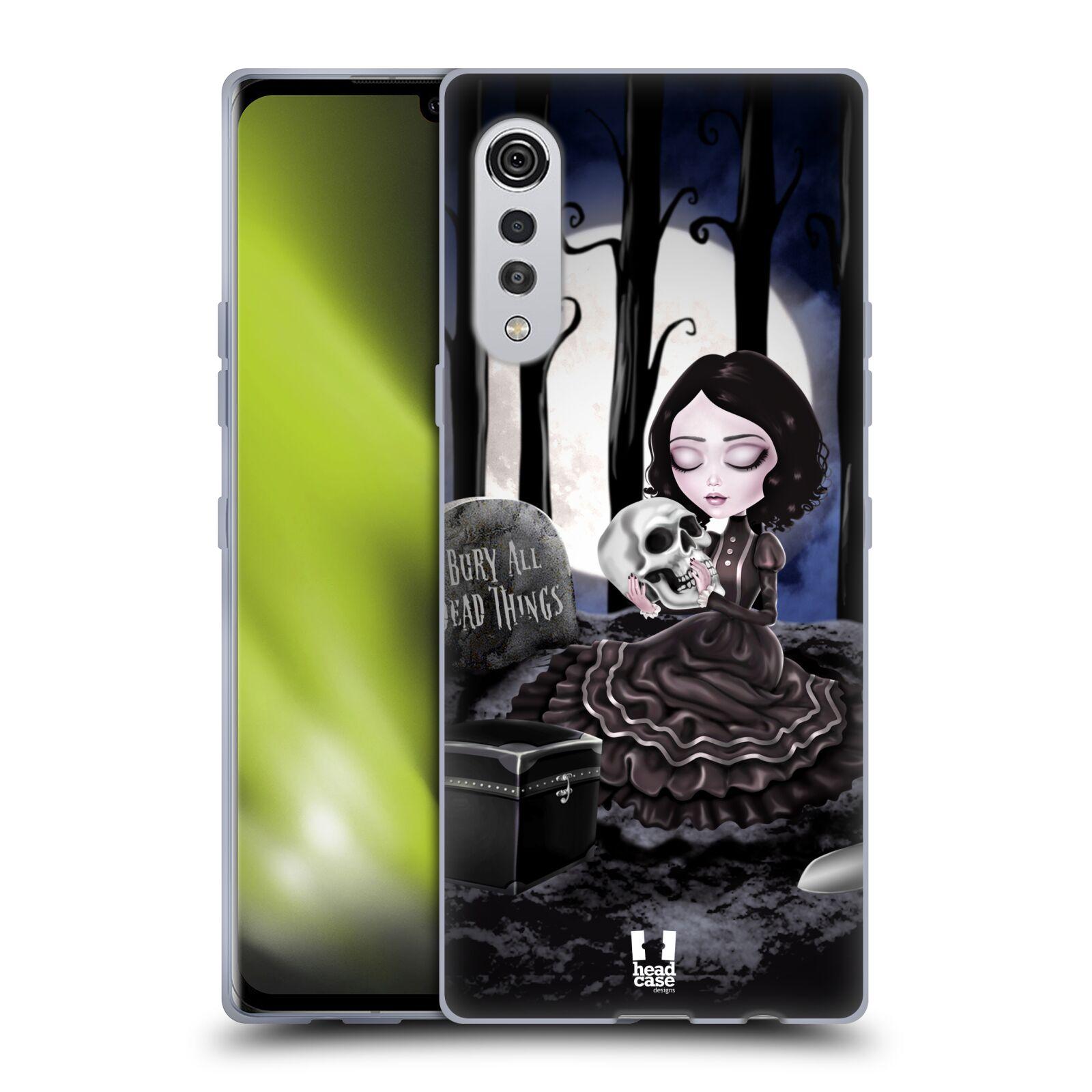 Silikonové pouzdro na mobil LG Velvet - Head Case - MACABRE HŘBITOV