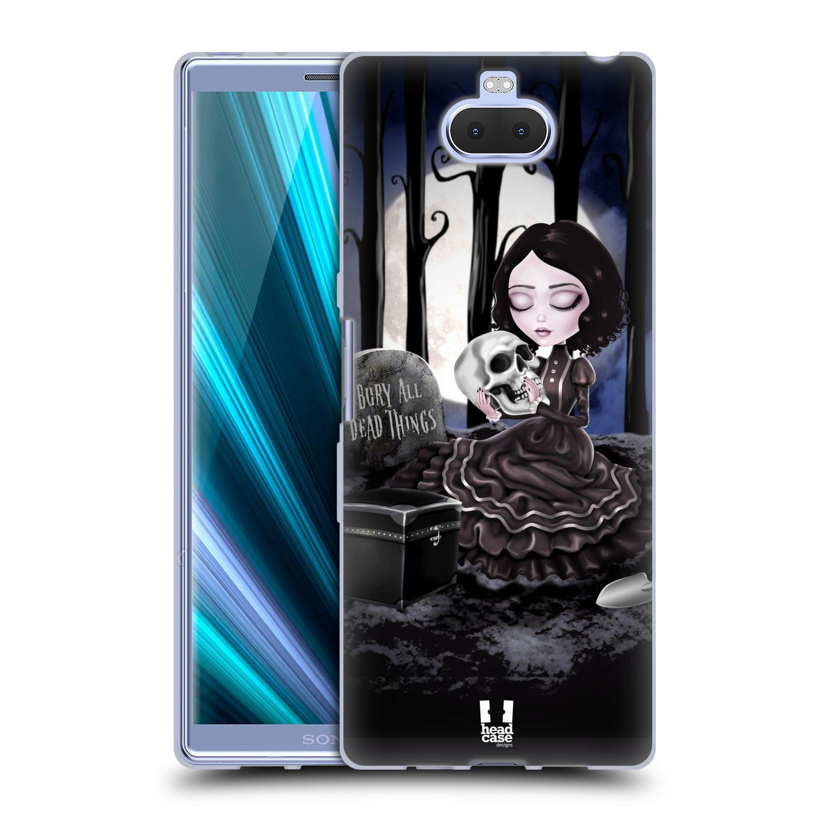 Silikonové pouzdro na mobil Sony Xperia 10 Plus - Head Case - MACABRE HŘBITOV