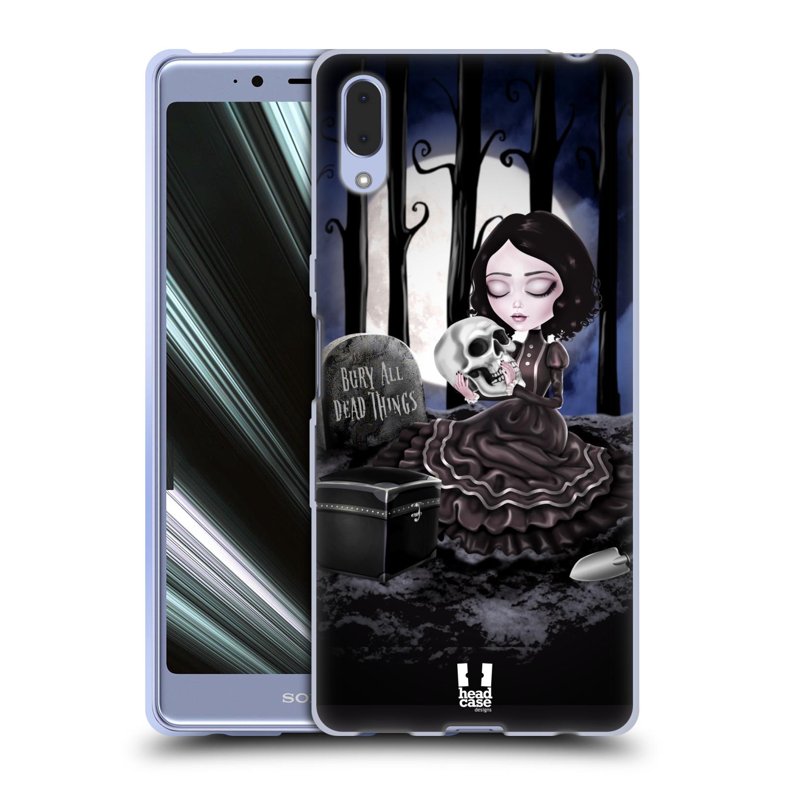 Silikonové pouzdro na mobil Sony Xperia L3 - Head Case - MACABRE HŘBITOV