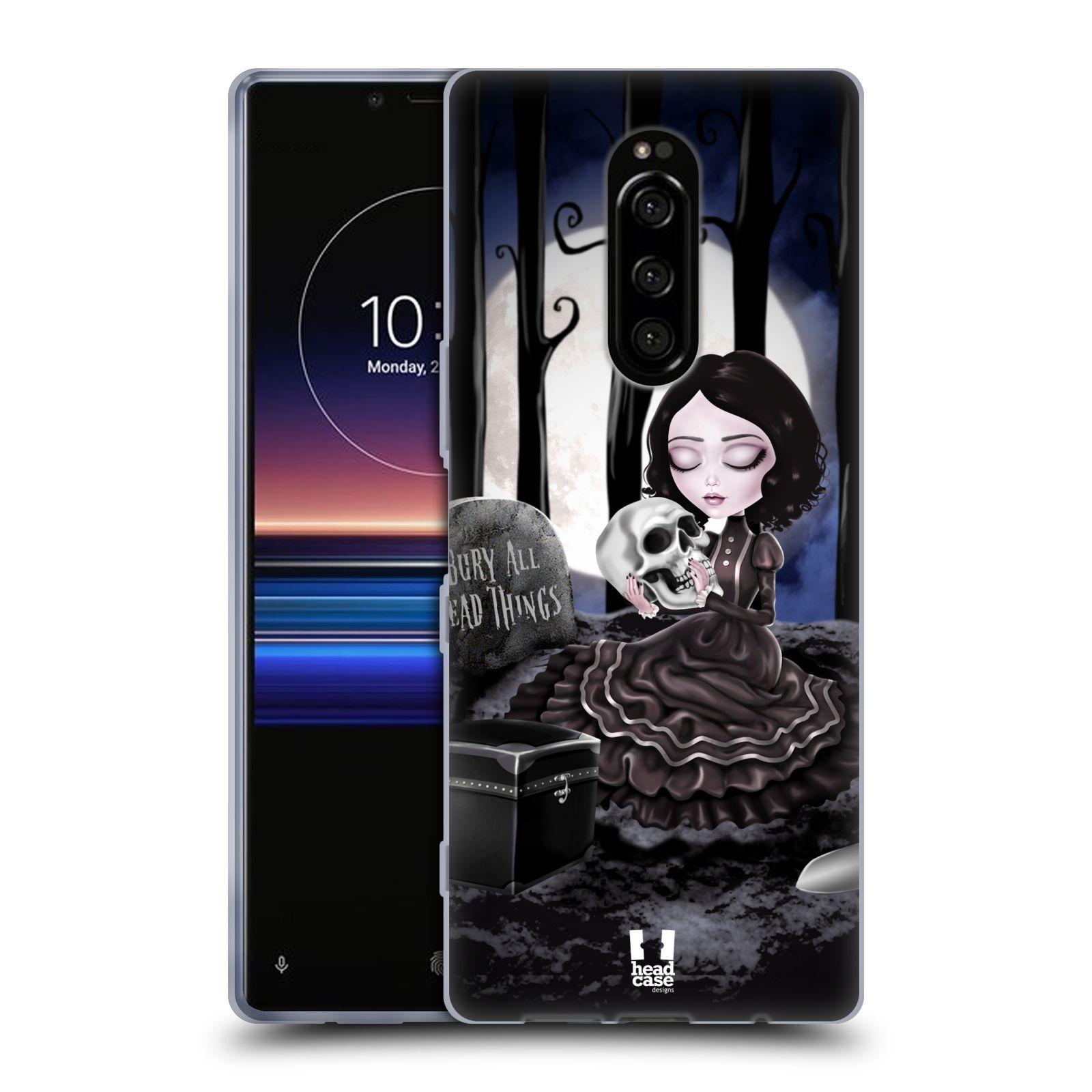Silikonové pouzdro na mobil Sony Xperia 1 - Head Case - MACABRE HŘBITOV