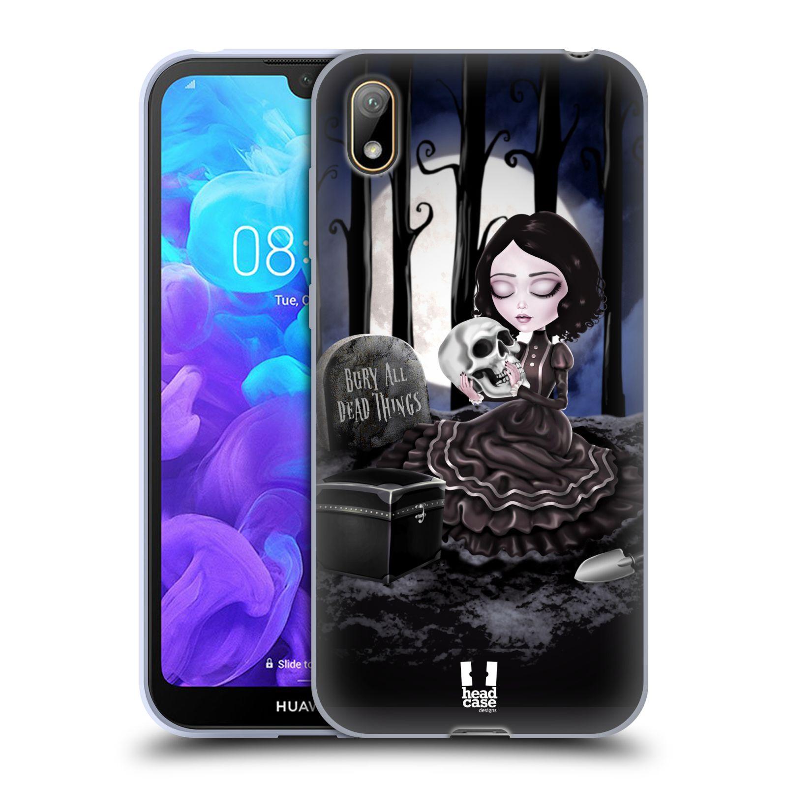 Silikonové pouzdro na mobil Huawei Y5 (2019) - Head Case - MACABRE HŘBITOV
