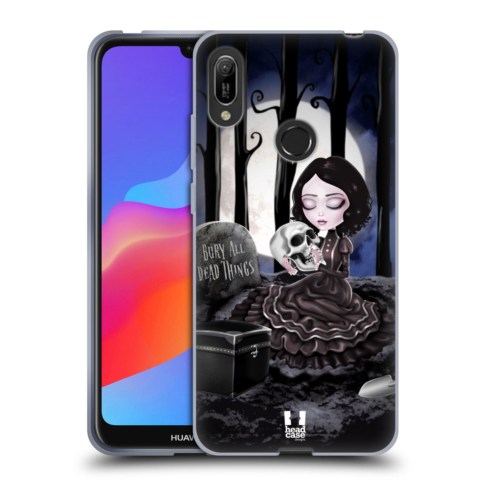 Silikonové pouzdro na mobil Huawei Y6 (2019) - Head Case - MACABRE HŘBITOV