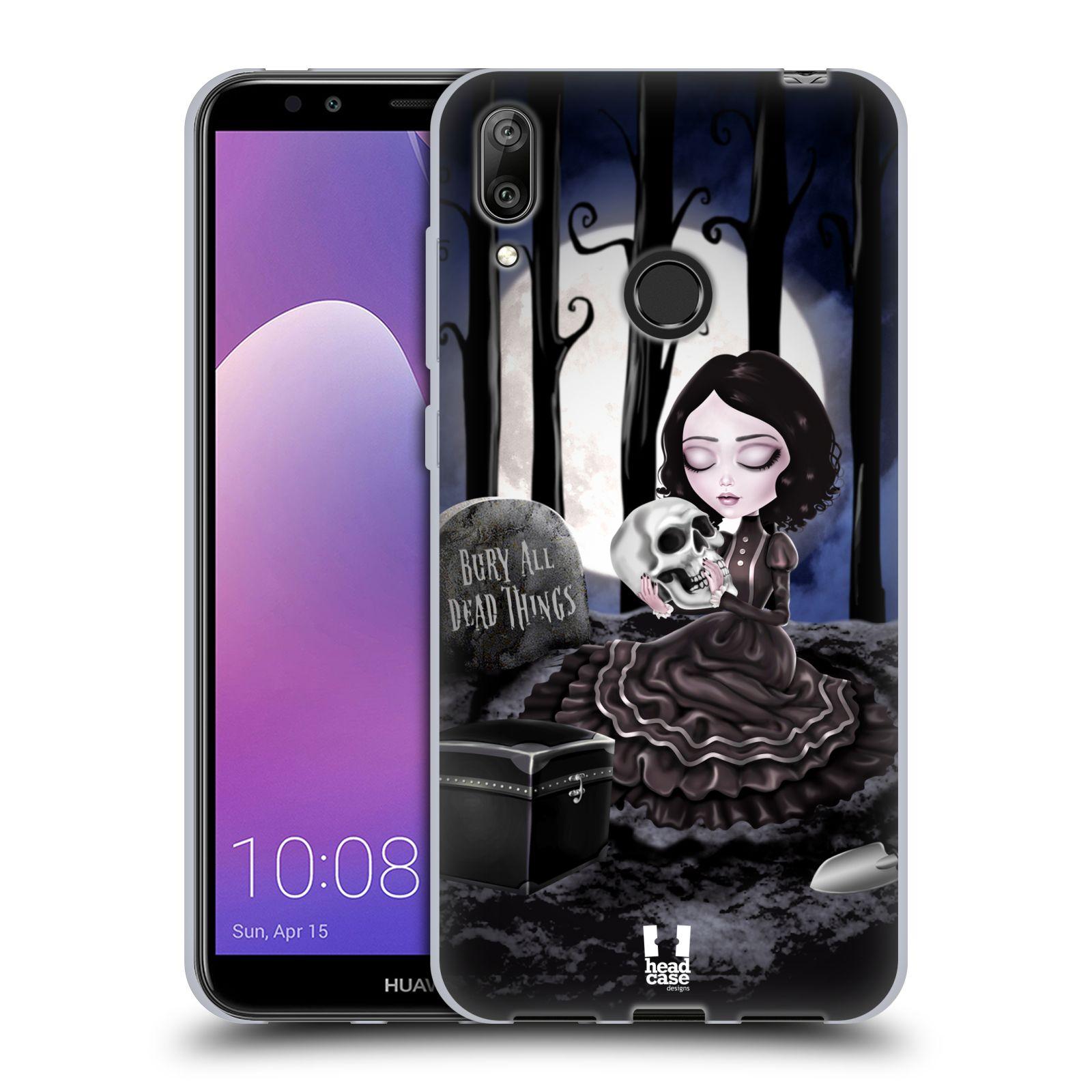 Silikonové pouzdro na mobil Huawei Y7 (2019) - Head Case - MACABRE HŘBITOV