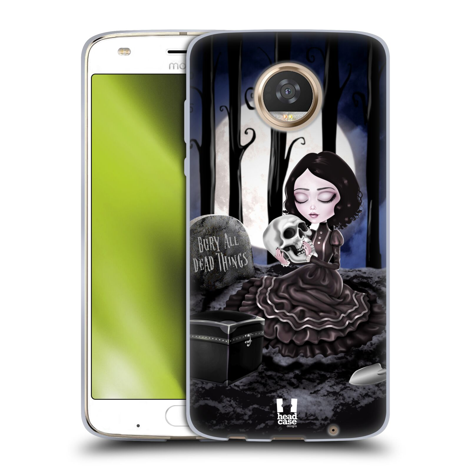 Silikonové pouzdro na mobil Lenovo Moto Z2 Play - Head Case - MACABRE HŘBITOV