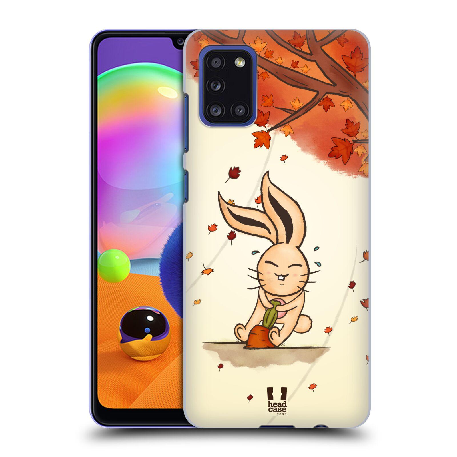Plastové pouzdro na mobil Samsung Galaxy A31 - Head Case - PODZIMNÍ KRÁLÍK