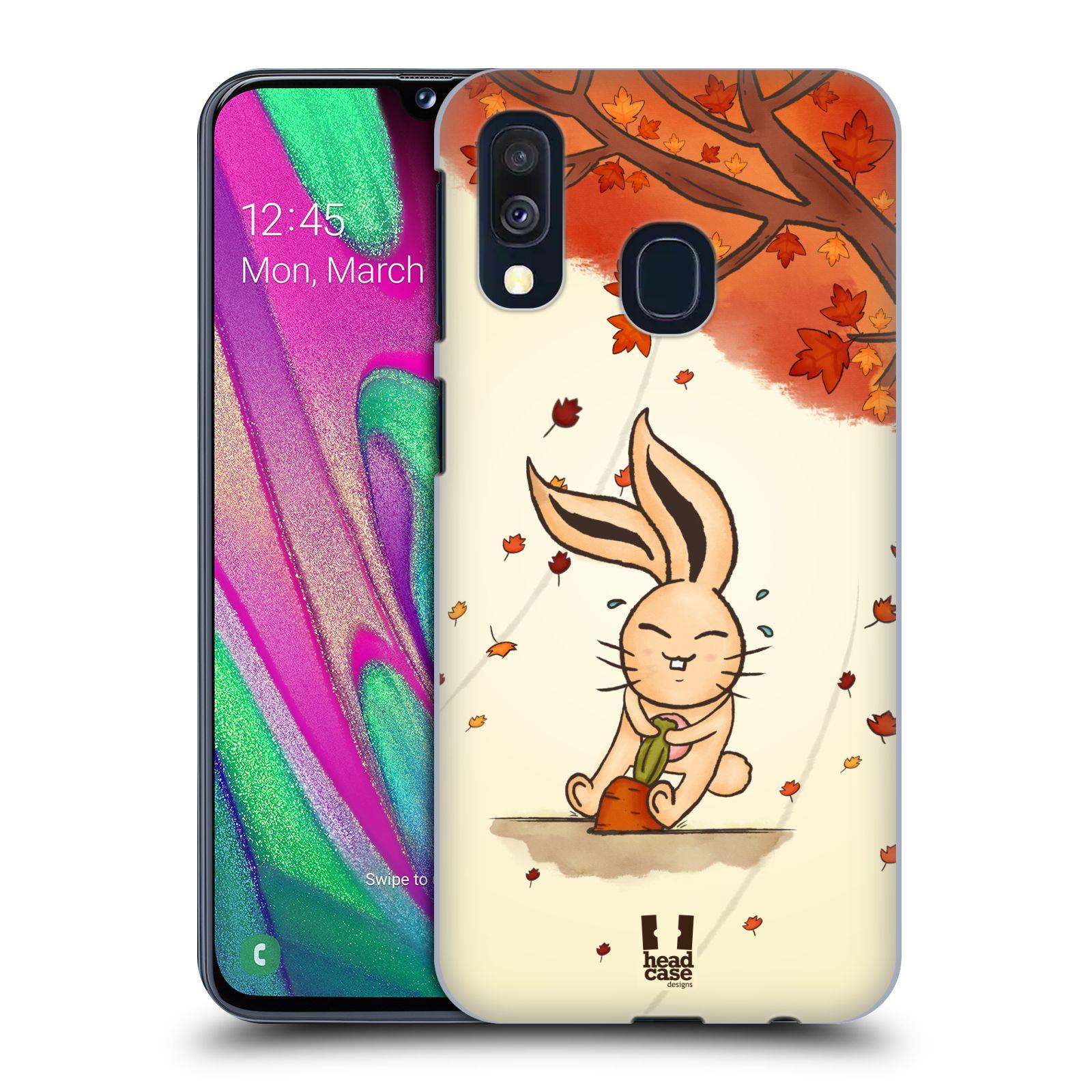Plastové pouzdro na mobil Samsung Galaxy A40 - Head Case - PODZIMNÍ KRÁLÍK