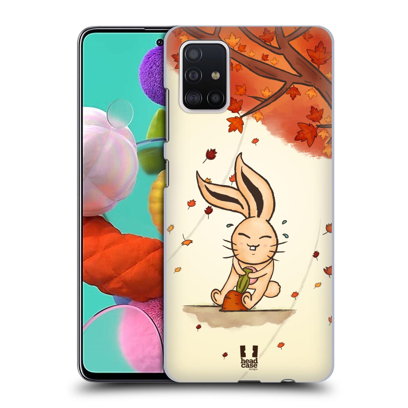 Plastové pouzdro na mobil Samsung Galaxy A51 - Head Case - PODZIMNÍ KRÁLÍK