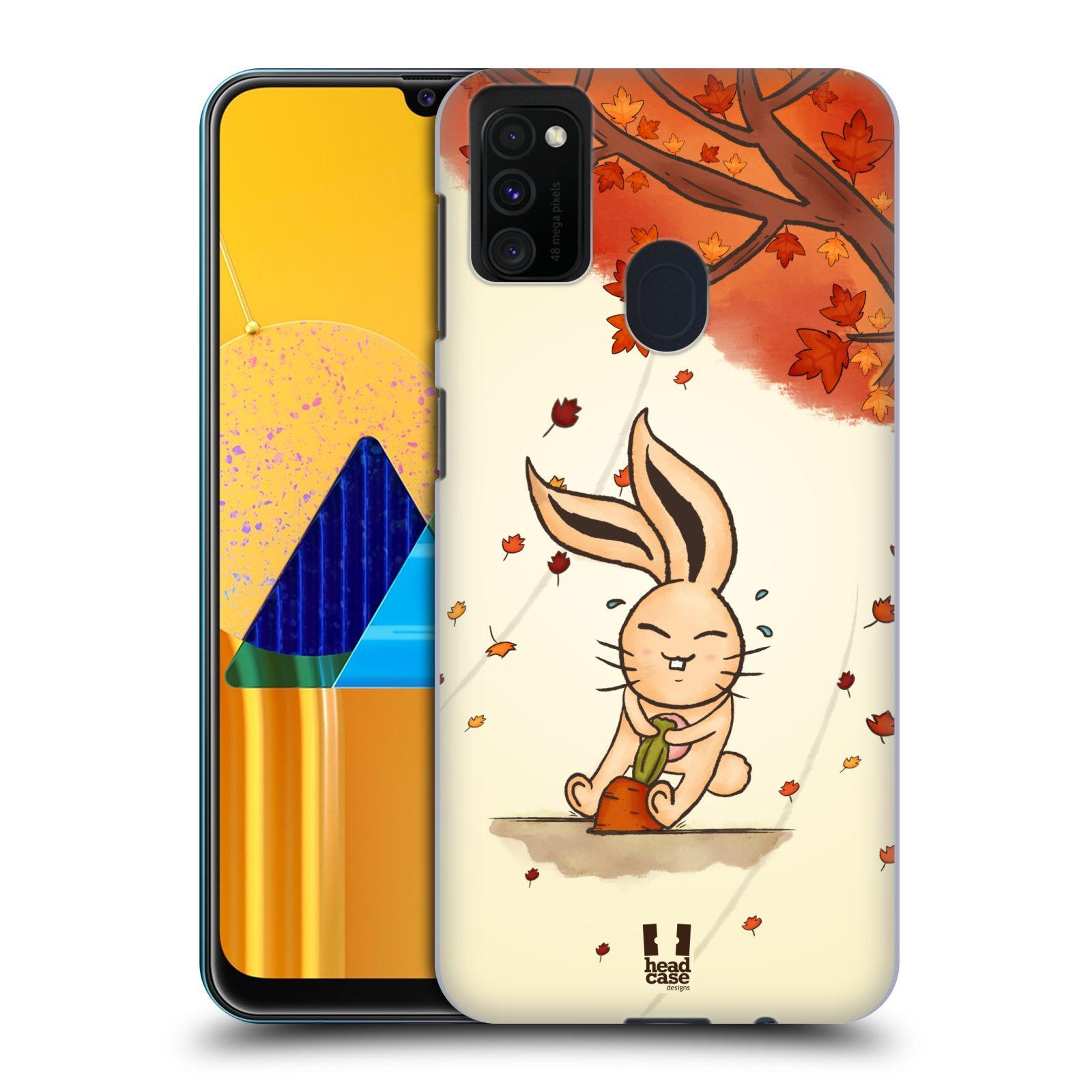 Plastové pouzdro na mobil Samsung Galaxy M21 - Head Case - PODZIMNÍ KRÁLÍK