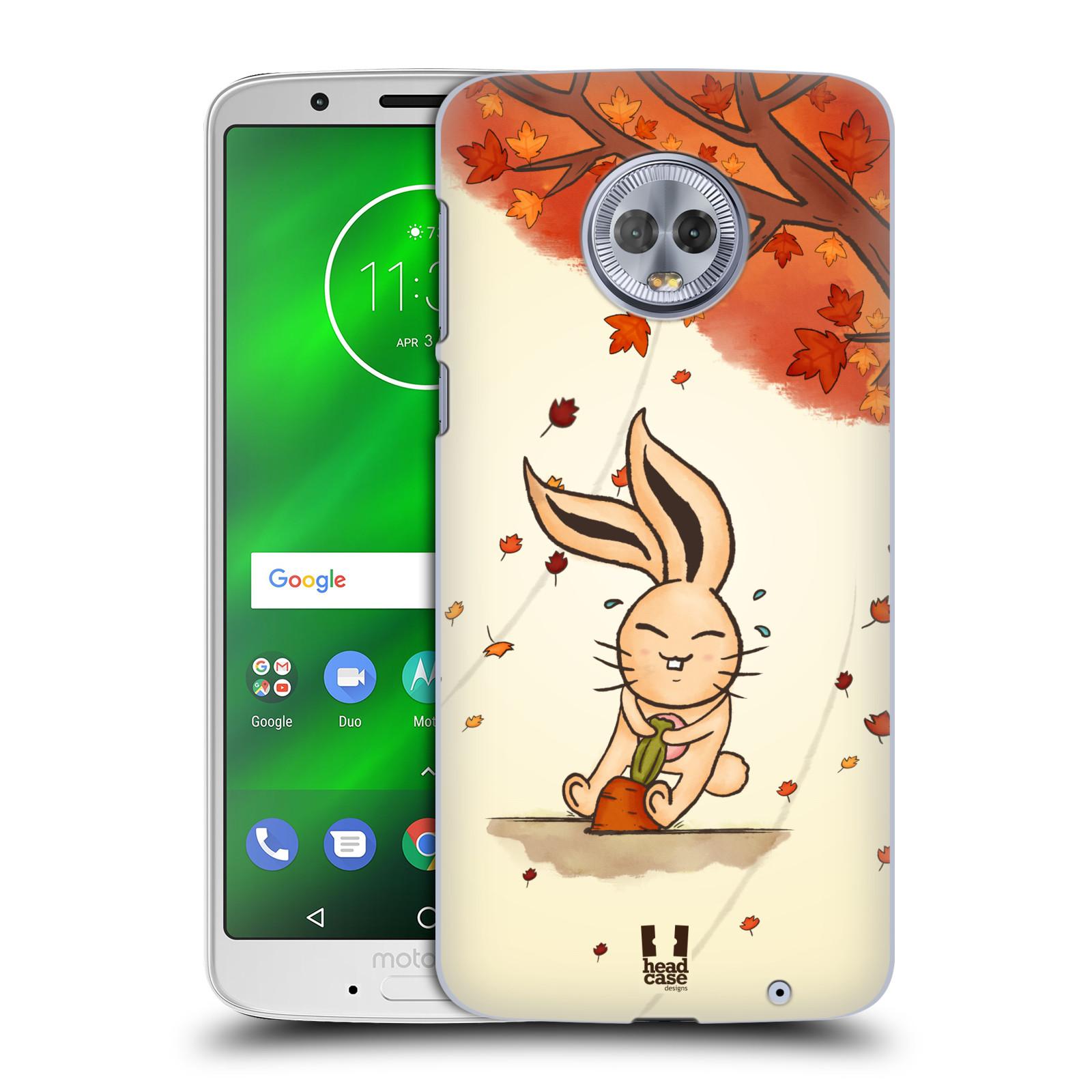 Plastové pouzdro na mobil Motorola Moto G6 Plus - Head Case - PODZIMNÍ KRÁLÍK