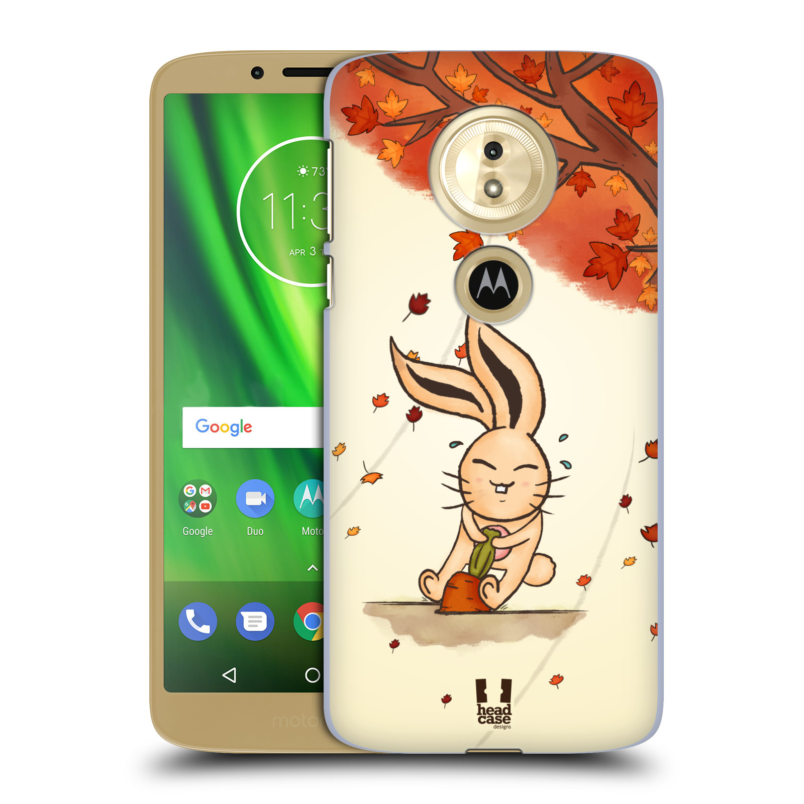 Plastové pouzdro na mobil Motorola Moto G6 Play - Head Case - PODZIMNÍ KRÁLÍK