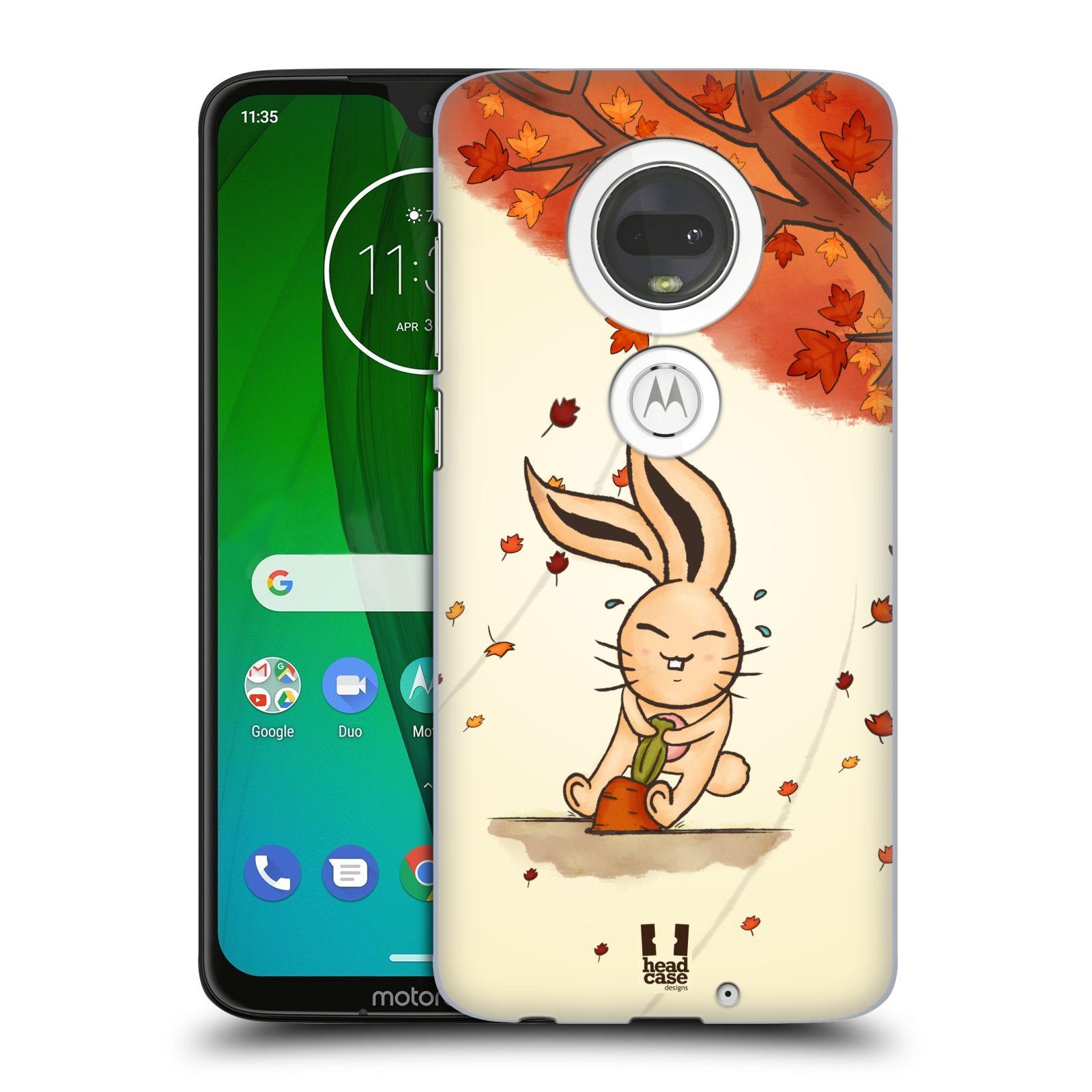 Plastové pouzdro na mobil Motorola Moto G7 - Head Case - PODZIMNÍ KRÁLÍK