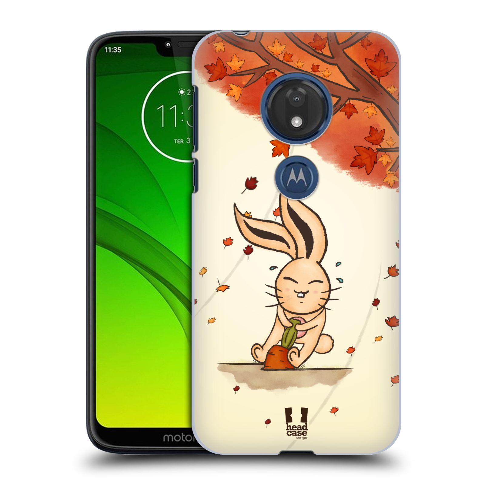 Plastové pouzdro na mobil Motorola Moto G7 Play - Head Case - PODZIMNÍ KRÁLÍK