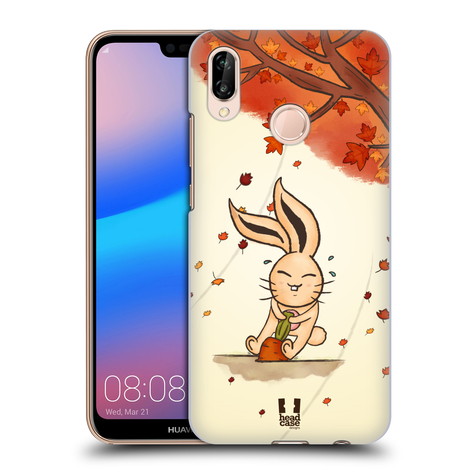 Plastové pouzdro na mobil Huawei P20 Lite - Head Case - PODZIMNÍ KRÁLÍK
