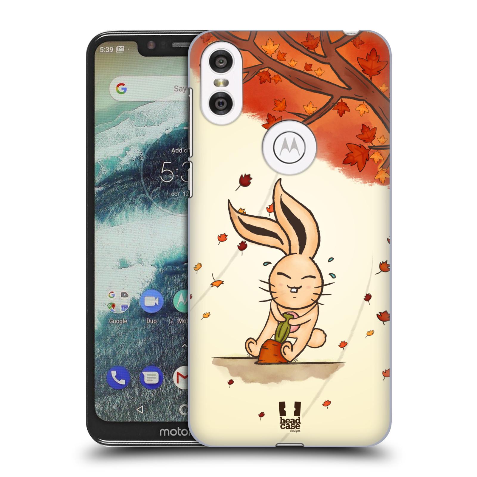 Plastové pouzdro na mobil Motorola One - Head Case - PODZIMNÍ KRÁLÍK