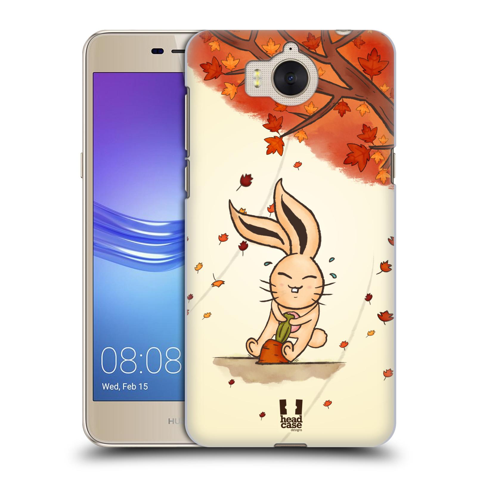 Plastové pouzdro na mobil Huawei Y6 2017 - Head Case - PODZIMNÍ KRÁLÍK