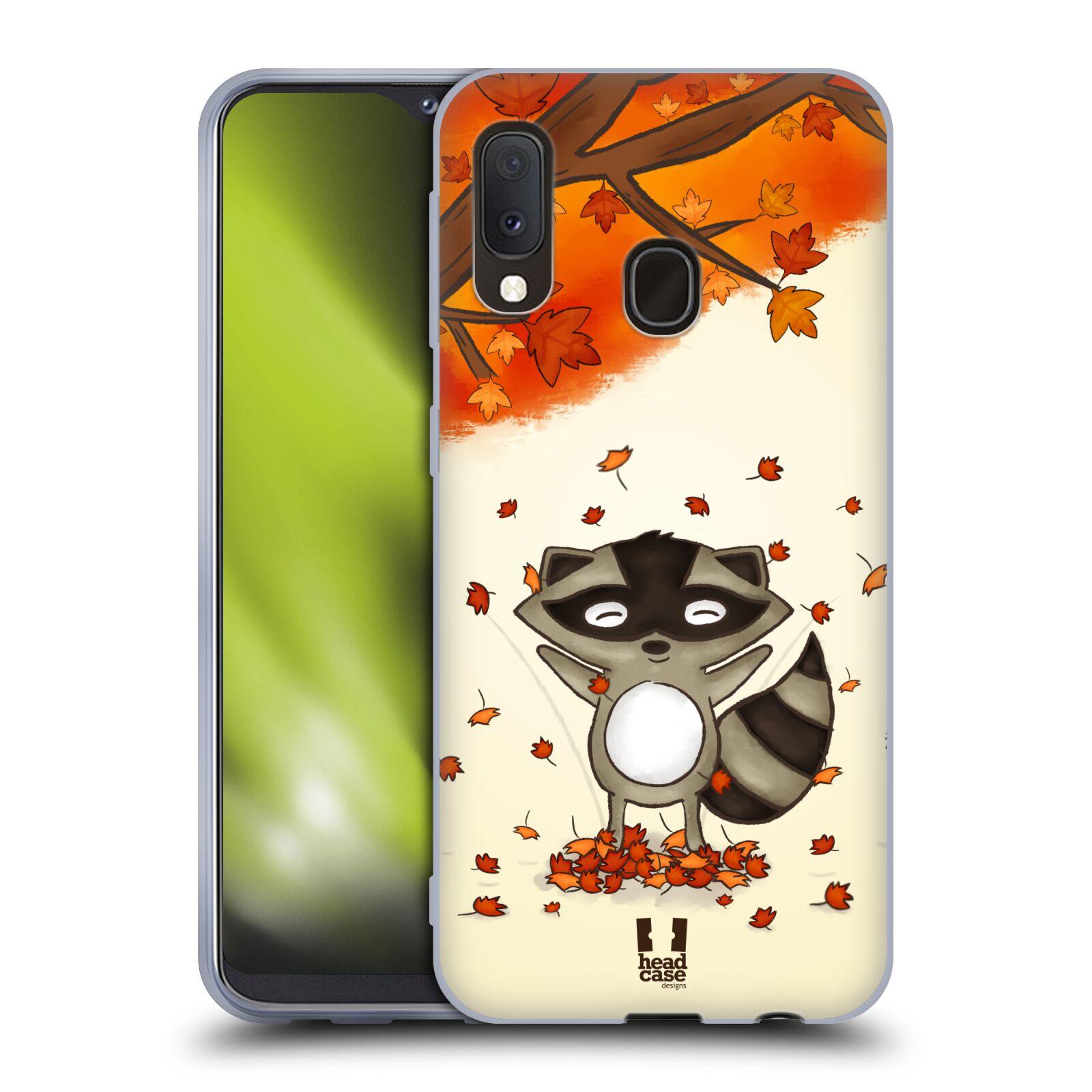 Silikonové pouzdro na mobil Samsung Galaxy A20e - Head Case - PODZIMNÍ MÝVAL