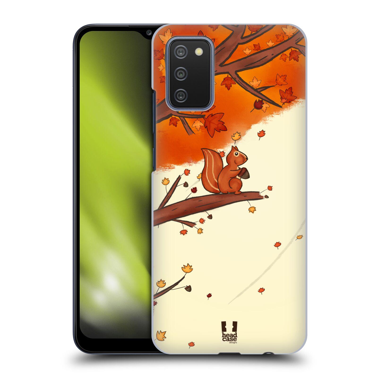 Plastové pouzdro na mobil Samsung Galaxy A02s - Head Case - PODZIMNÍ VEVERKA