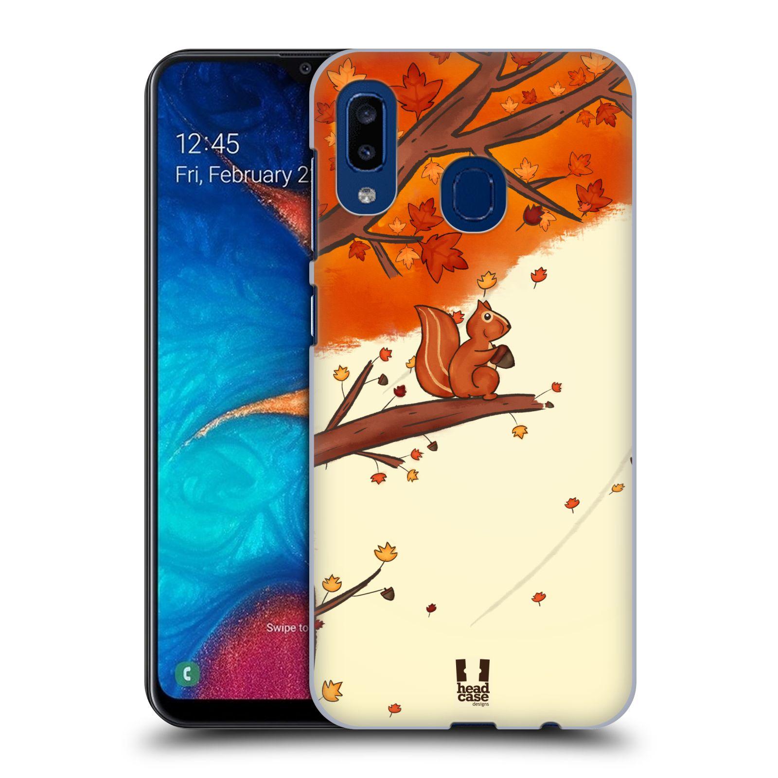 Plastové pouzdro na mobil Samsung Galaxy A20 - Head Case - PODZIMNÍ VEVERKA