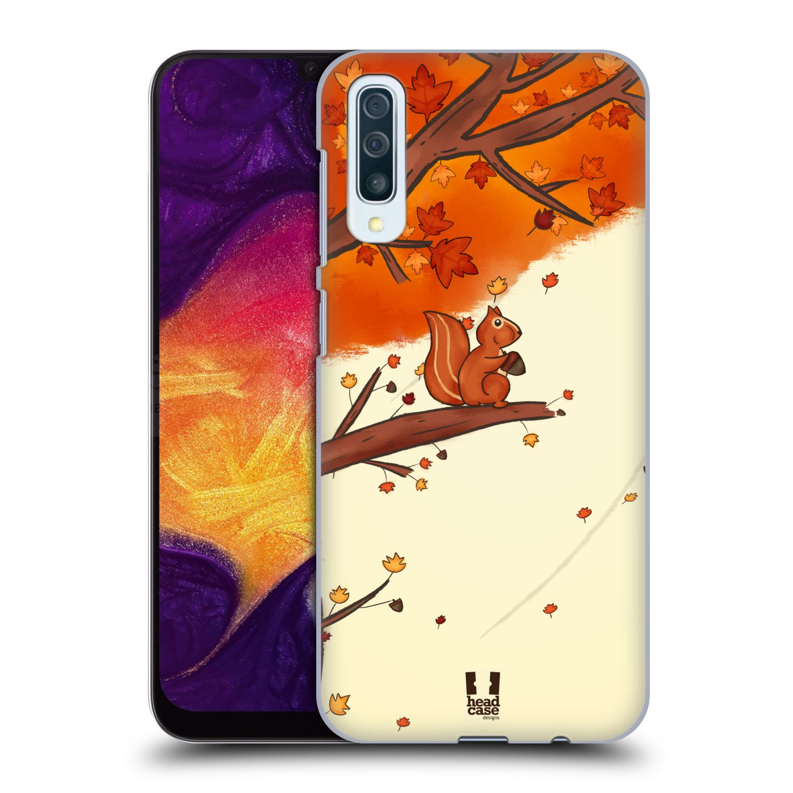 Plastové pouzdro na mobil Samsung Galaxy A50 - Head Case - PODZIMNÍ VEVERKA