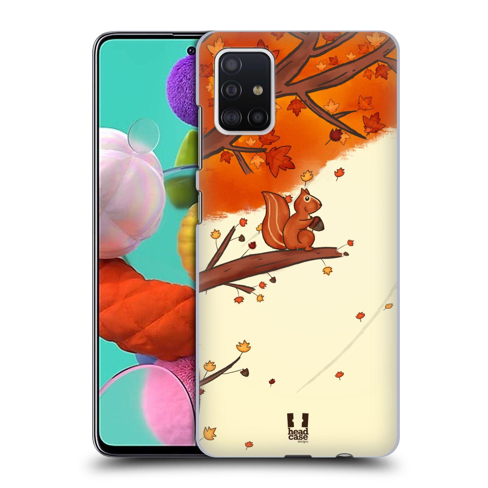 Plastové pouzdro na mobil Samsung Galaxy A51 - Head Case - PODZIMNÍ VEVERKA
